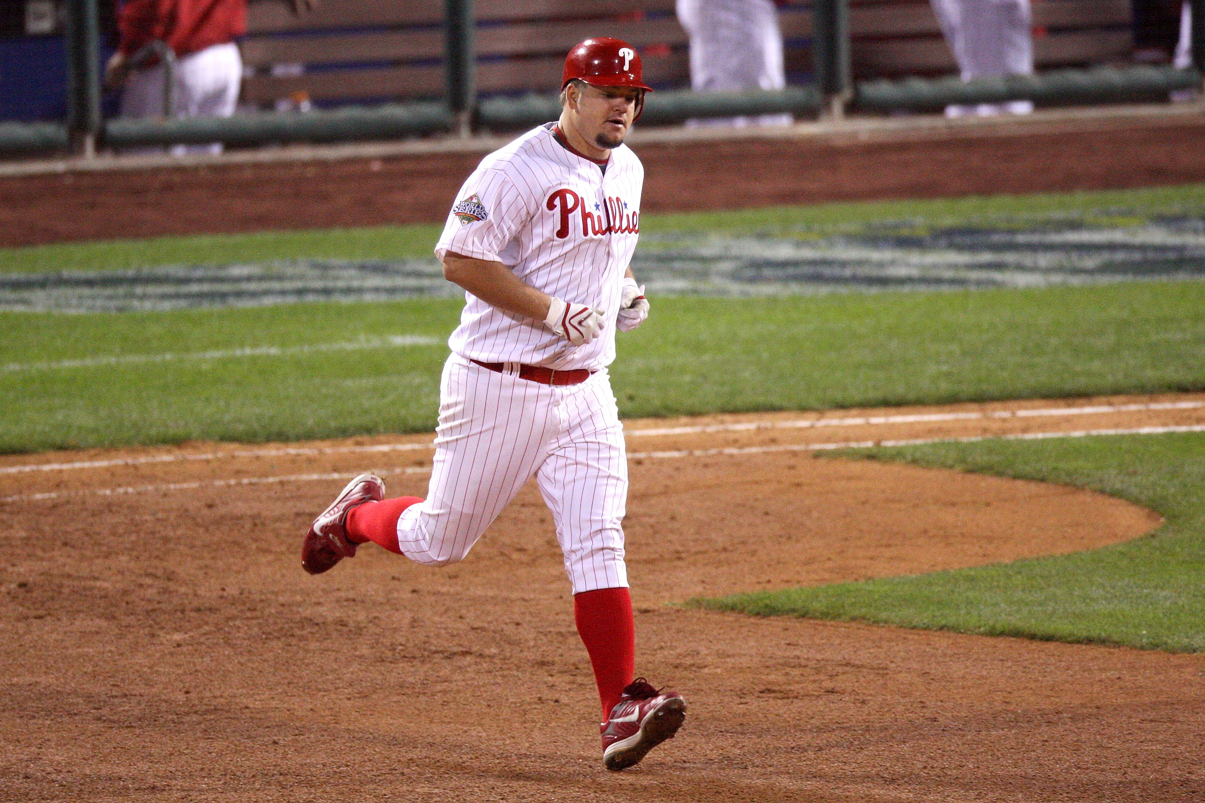 PHILADELPHIA - OCTOBER 26:  Joe Blanton #58 of the Philadelphia Phillies runs the bases on his solo home run in the bottom of the fifth inning against the Tampa Bay Rays during game four of the 2008 MLB World Series on October 26, 2008 at Citizens Bank Pa