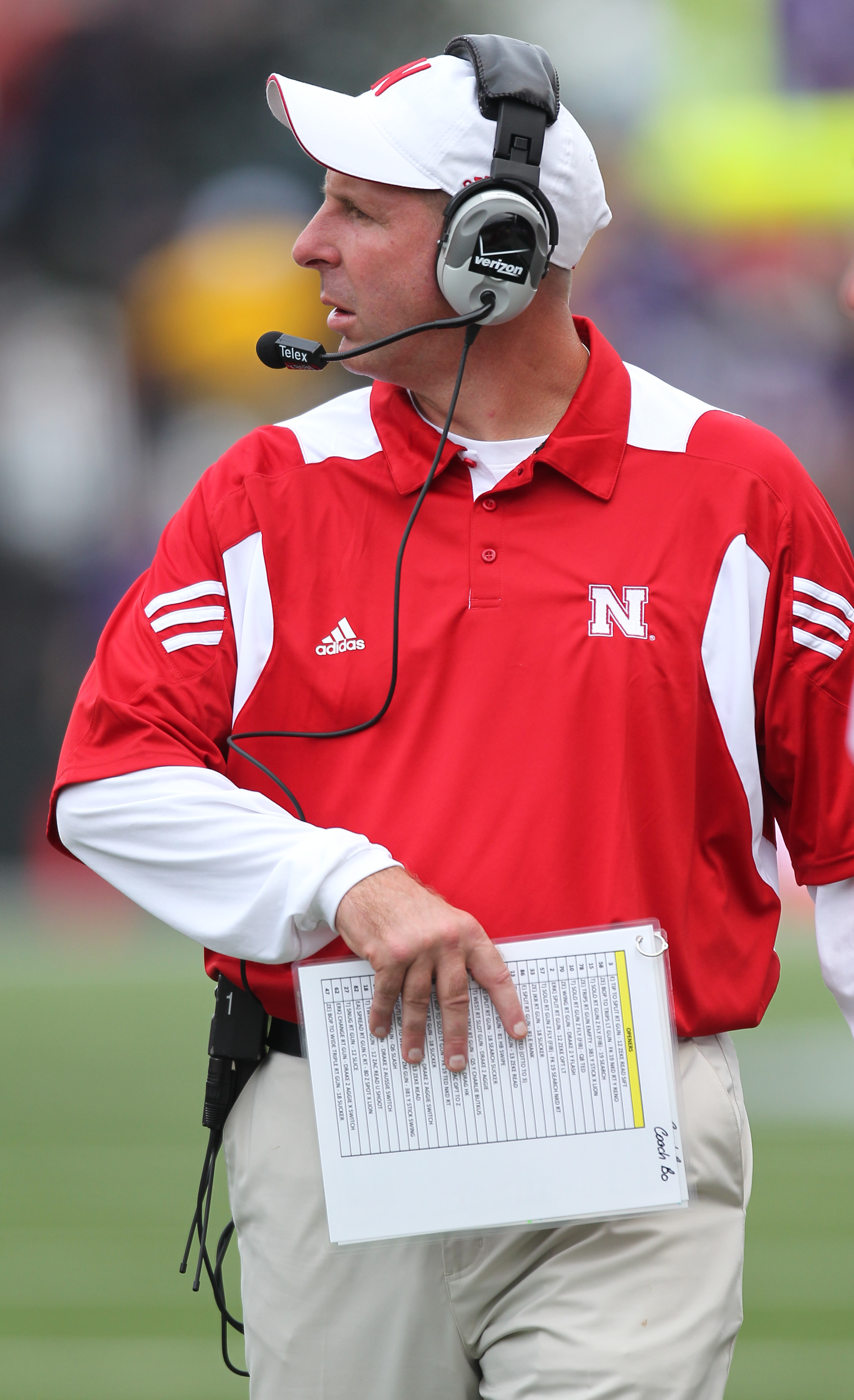 SEATTLE - SEPTEMBER 18: Head coach Bo Pelini of the Nebraska Cornhuskers looks on during the game against the Washington Huskies on September 18, 2010 at Husky Stadium in Seattle, Washington. (Photo by Otto Greule Jr/Getty Images)