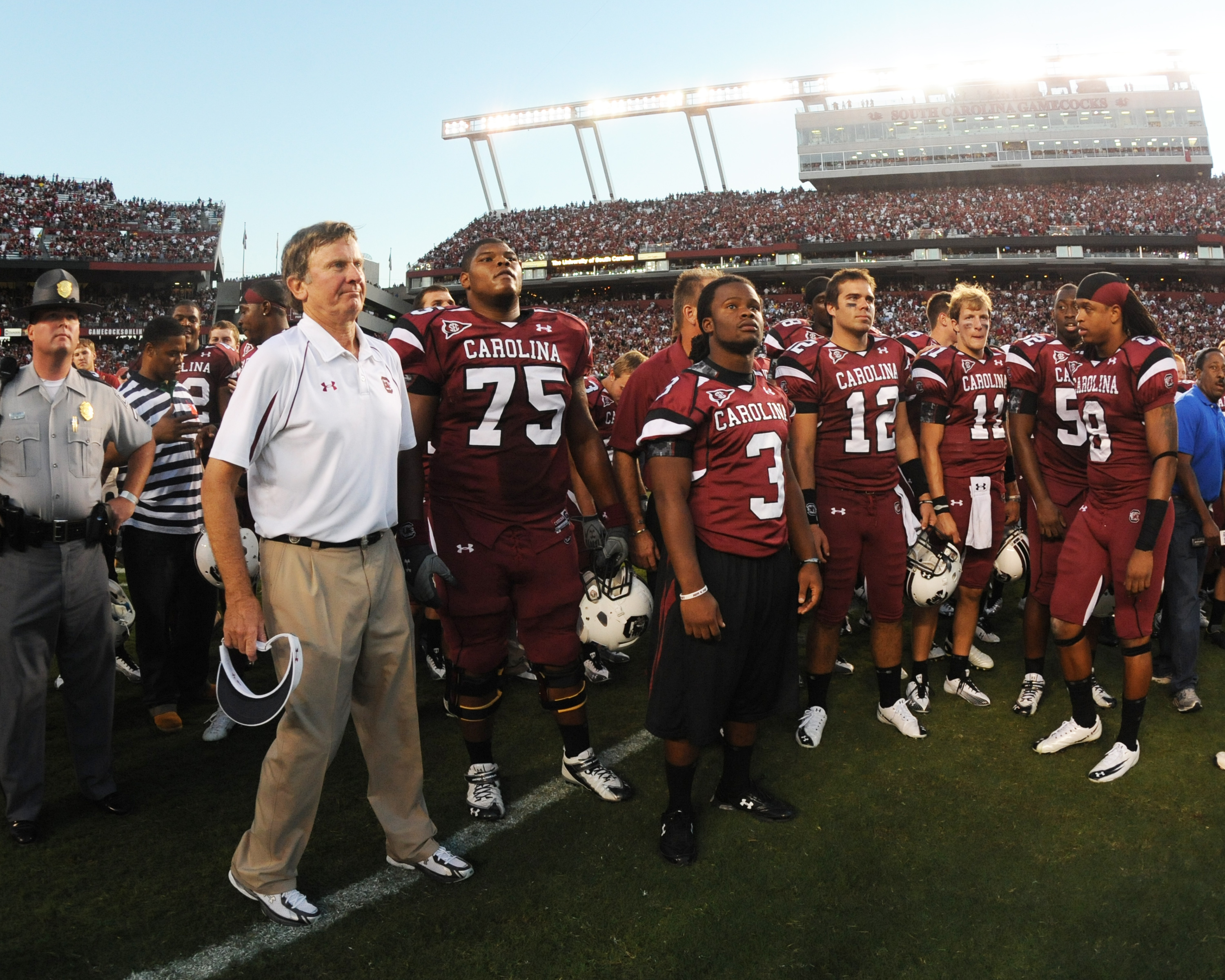 There's that party animal, Steve Spurrier...