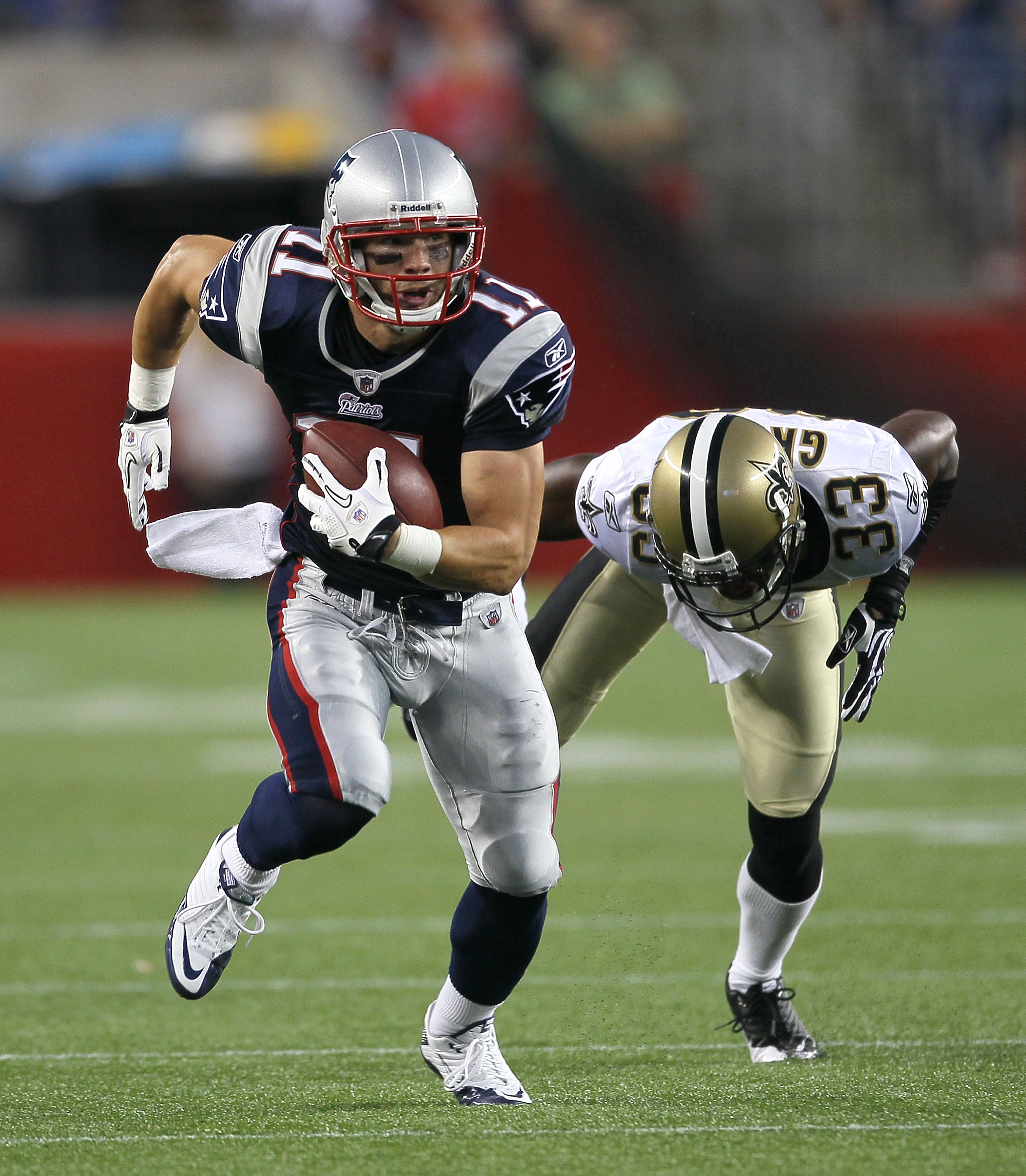 Julian Edelman has quick feet and is a great compliment to his teammate, Wes Welker