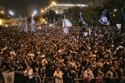 Fans pack the streets in São Paulo to celebrate Corinthians' 100 years.