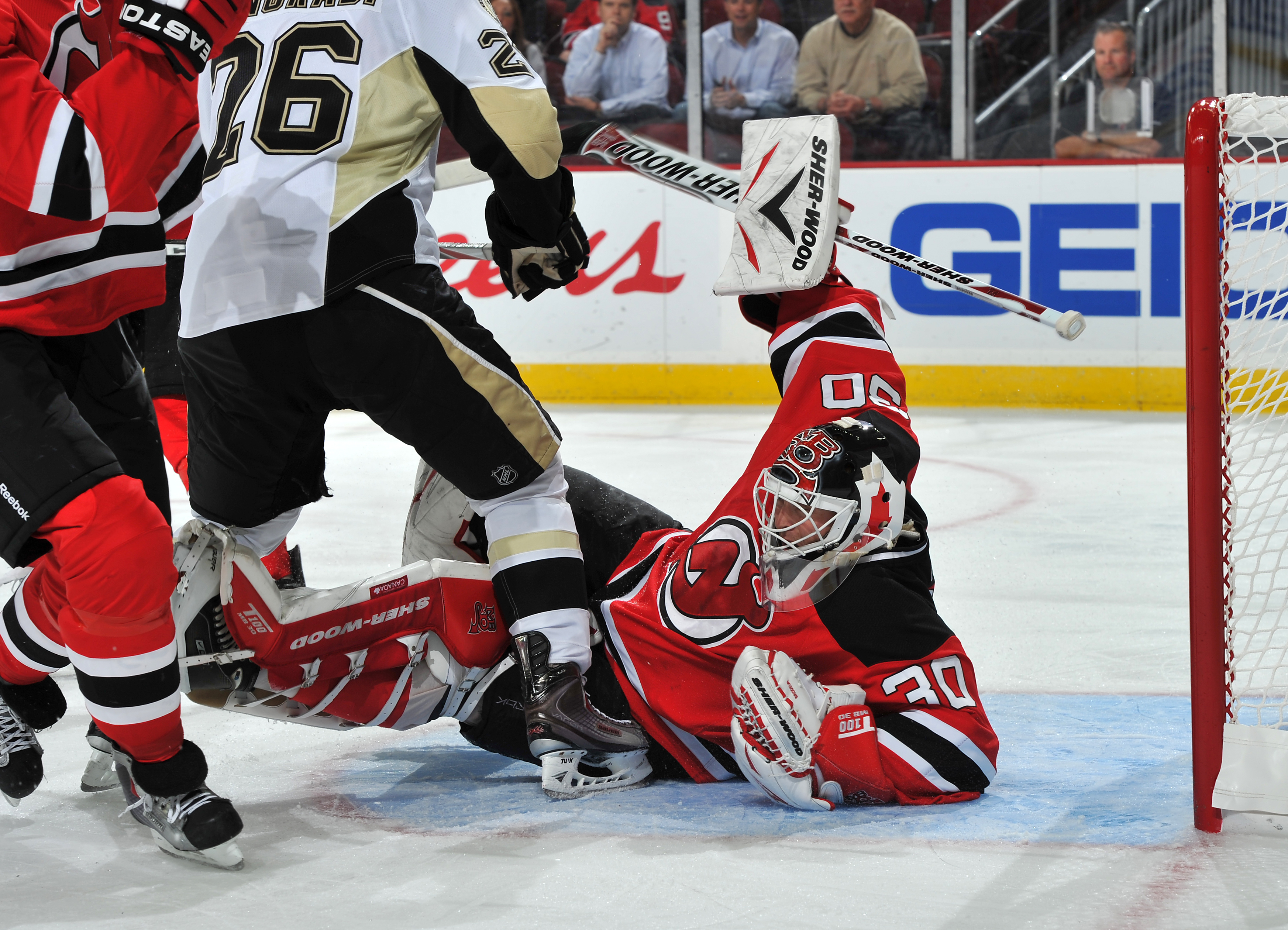 Broduer looks like he is still the netminder we know and love, he just isn't playing like him anymore.