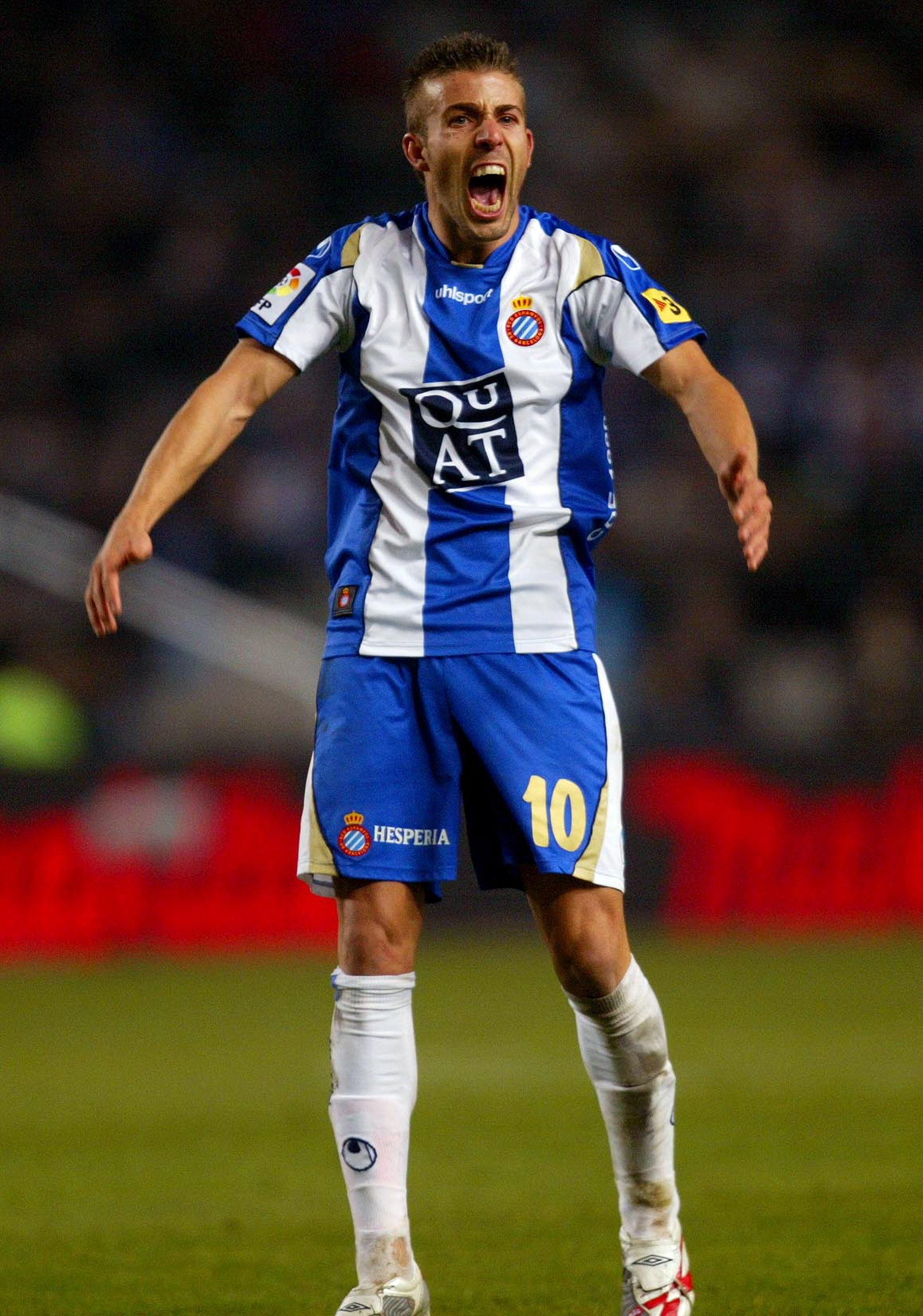 BARCELONA, SPAIN - DECEMBER 1: Luis Garcia of Espanyol reacts during the La Liga match between RCD Espanyol and FC Barcelona, played at the Lluis Companys stadium on December 1, 2007 in Barcelona, Spain (Photo by Bagu Blanco/Getty Images).
