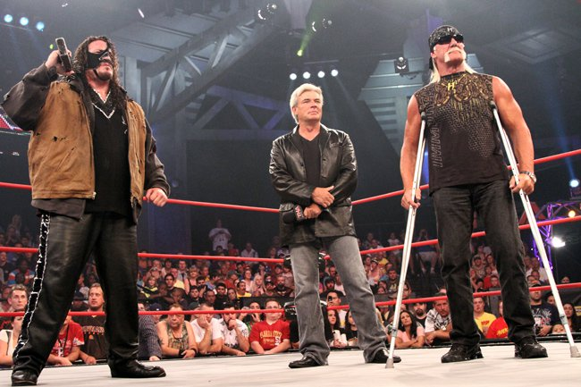 Hogan, Bischoff and Abyss are three key members of The Immortals