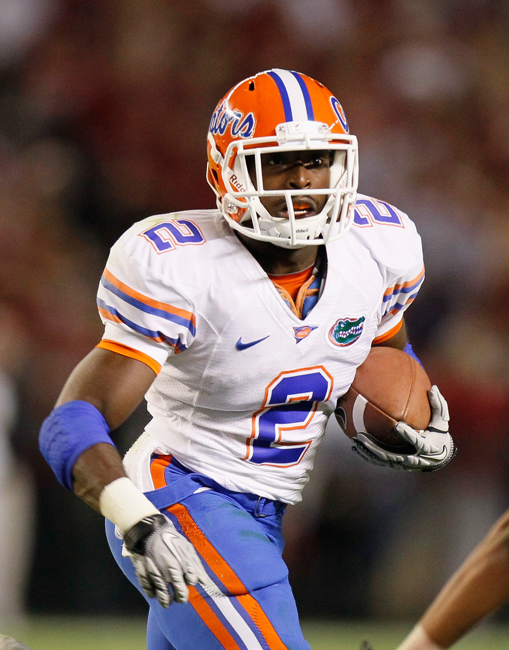 TUSCALOOSA, AL - OCTOBER 02:  Jeffery Demps #2 of the Florida Gators against the Alabama Crimson Tide at Bryant-Denny Stadium on October 2, 2010 in Tuscaloosa, Alabama.  (Photo by Kevin C. Cox/Getty Images)