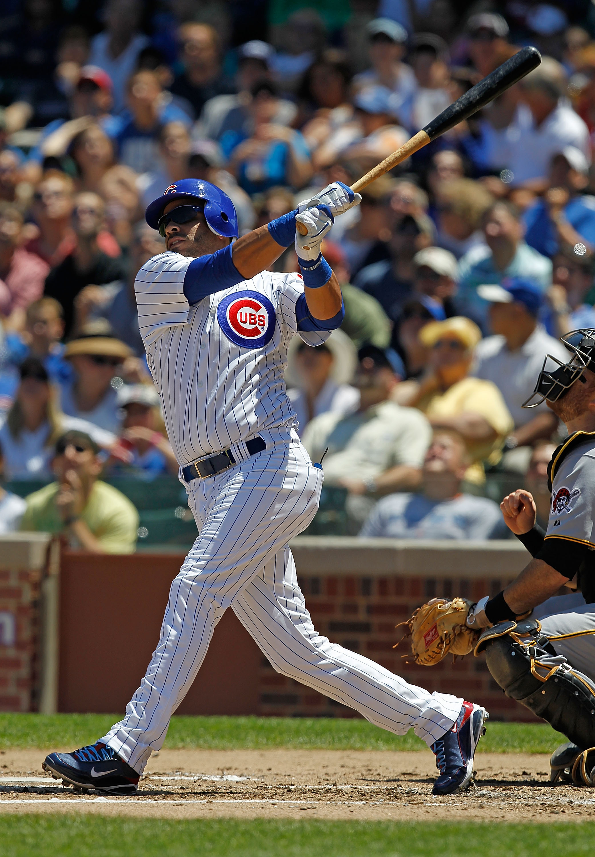 CHICAGO - JUNE 30: Aramis Ramirez #16 of the Chicago Cubs hits the ball against the Pittsburgh Pirates at Wrigley Field on June 30, 2010 in Chicago, Illinois. The Pirates defeated the Cubs 2-0. (Photo by Jonathan Daniel/Getty Images)