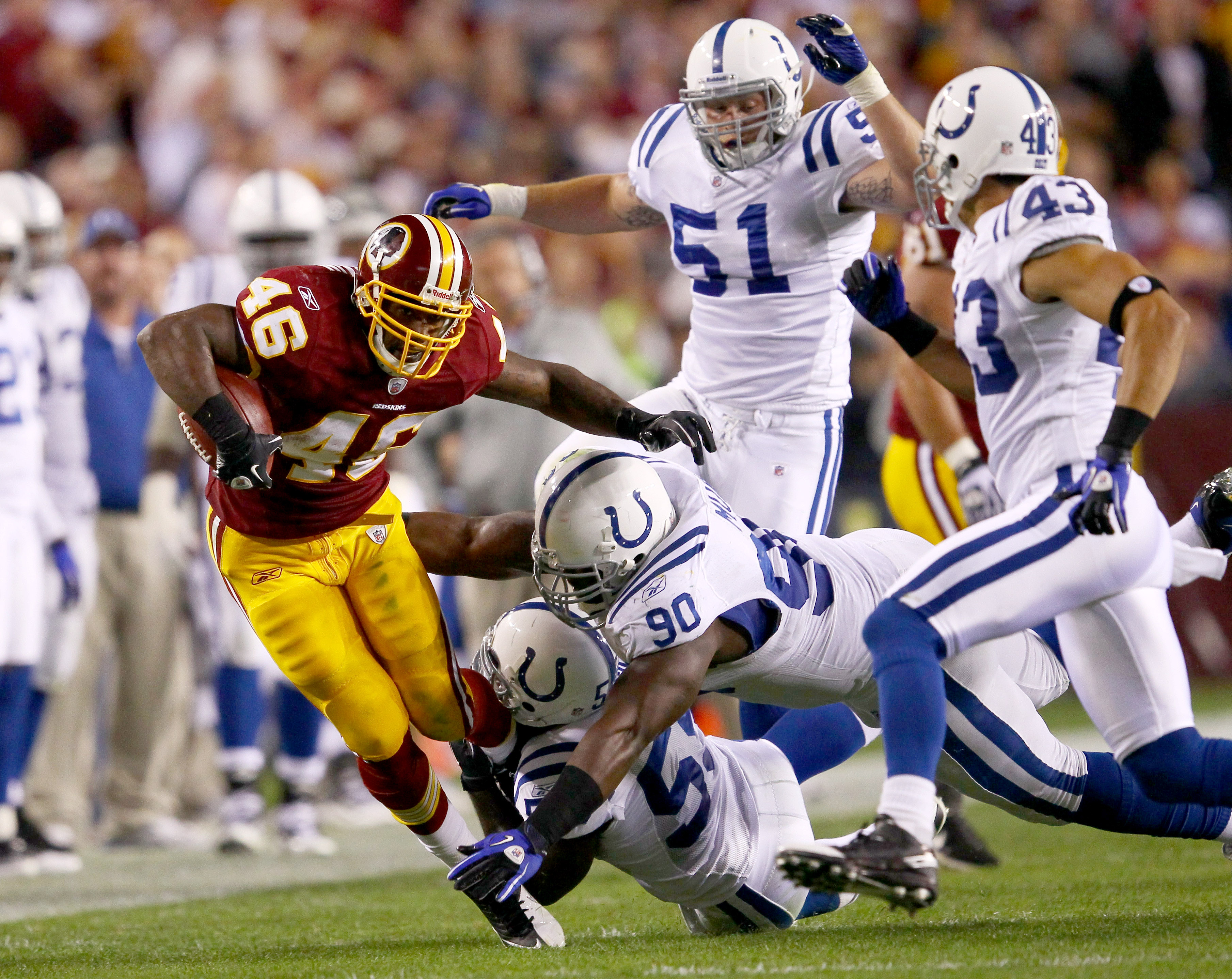 Redskins running back Ryan Torain