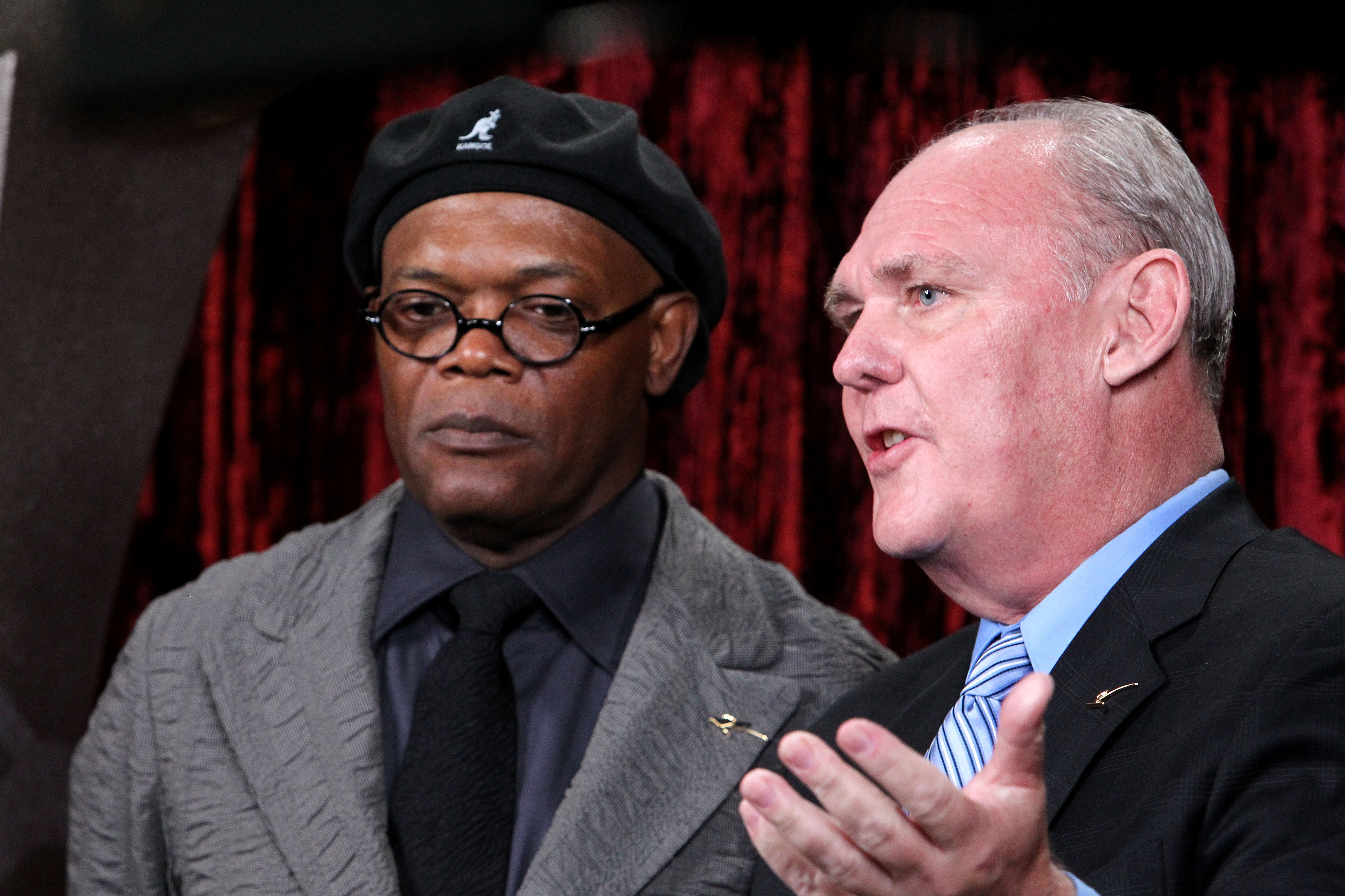 LOS ANGELES, CA - JULY 14:  (L-R) Actor Samuel L. Jackson and Denver Nuggets head coach George Karl backstage during the 2010 ESPY Awards at Nokia Theatre L.A. Live on July 14, 2010 in Los Angeles, California.  (Photo by Alexandra Wyman/Getty Images for E