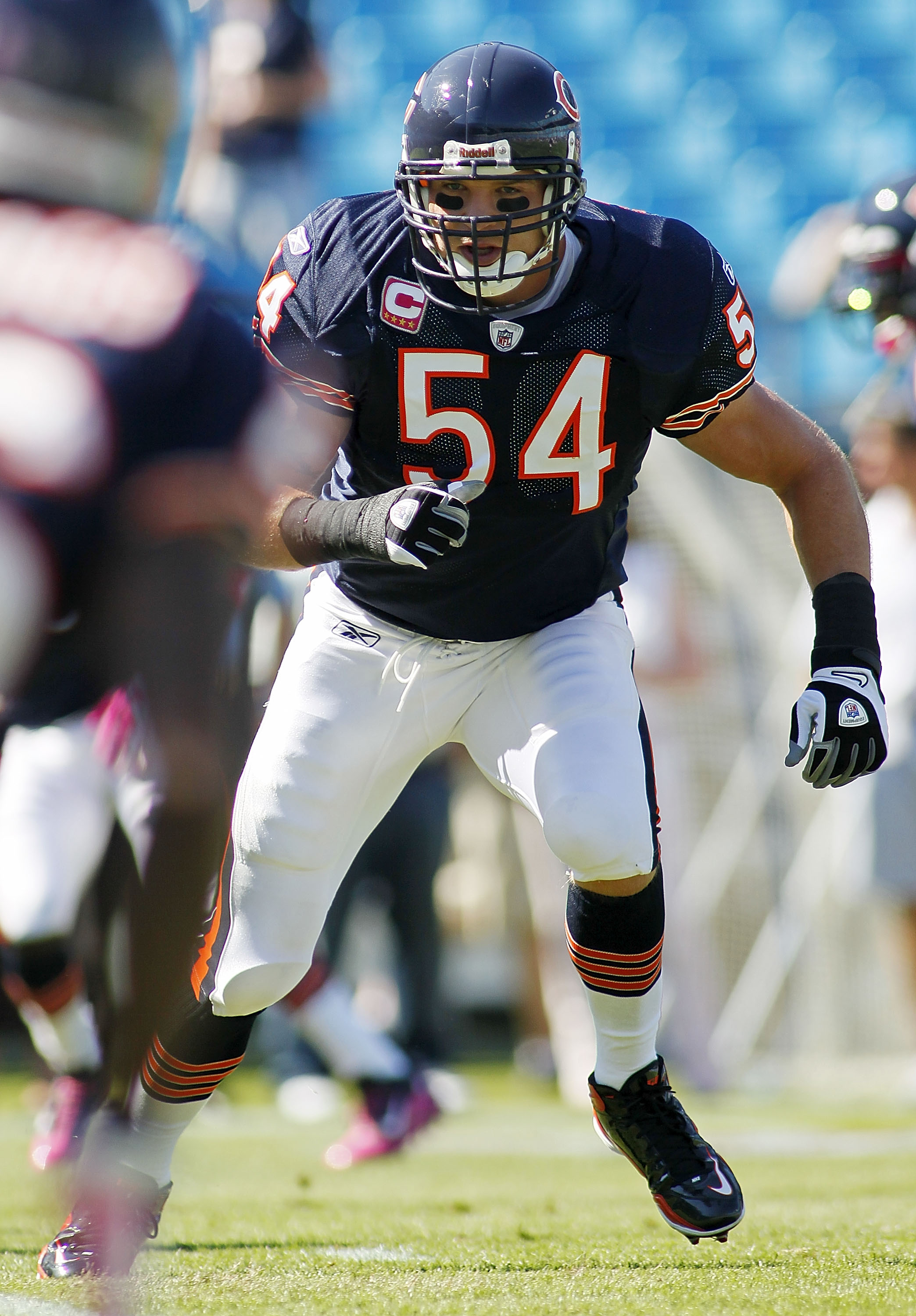 Chicago Bear Linebacker Brian Urlacher Looks To Hit Somebody