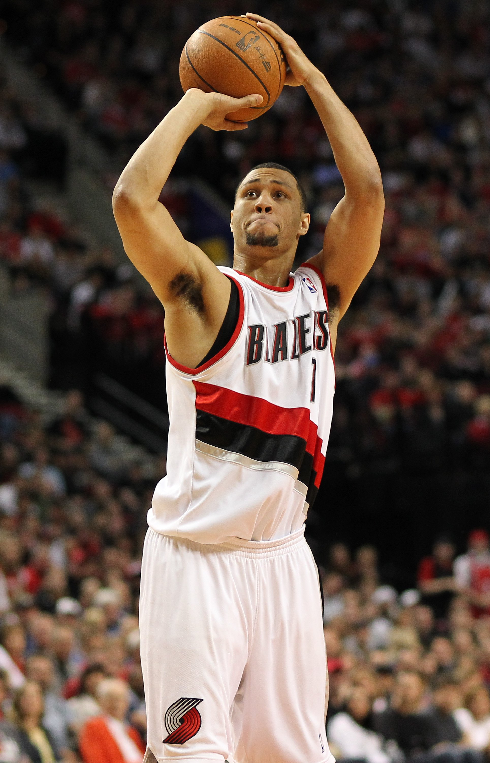 PORTLAND, OR - APRIL 24:  Brandon Roy #7 of the Portland Trail Blazers in action against the Phoenix Suns during Game Four of the Western Conference Quarterfinals of the NBA Playoffs on April 24, 2010 at the Rose Garden in Portland, Oregon. The Blazers de