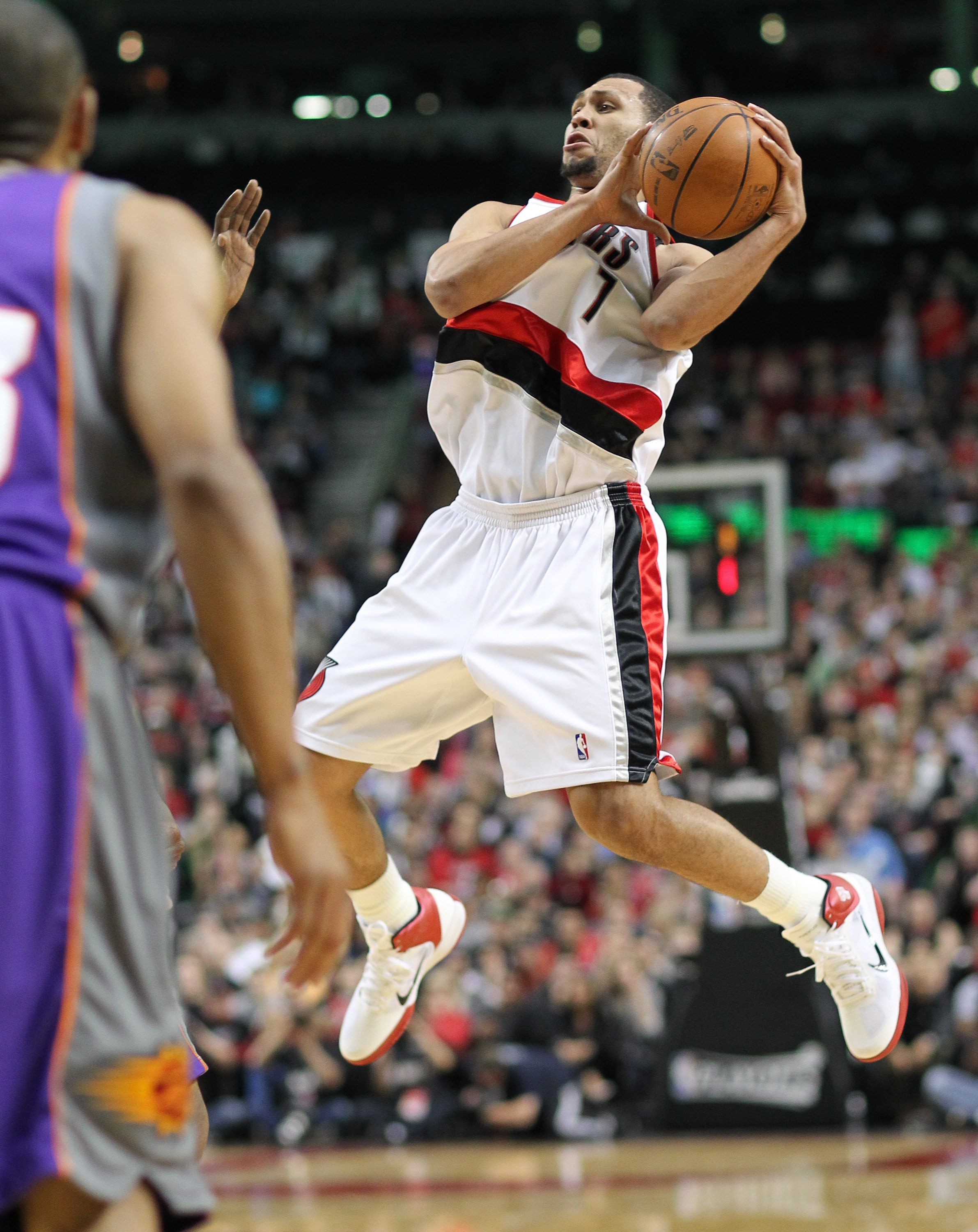 PORTLAND, OR - APRIL 29:  Brandon Roy #7 of the Portland Trail Blazers in action against the Phoenix Suns during Game Six of the Western Conference Quarterfinals of the NBA Playoffs on April 29, 2010 at the Rose Garden in Portland, Oregon. The Suns defeat