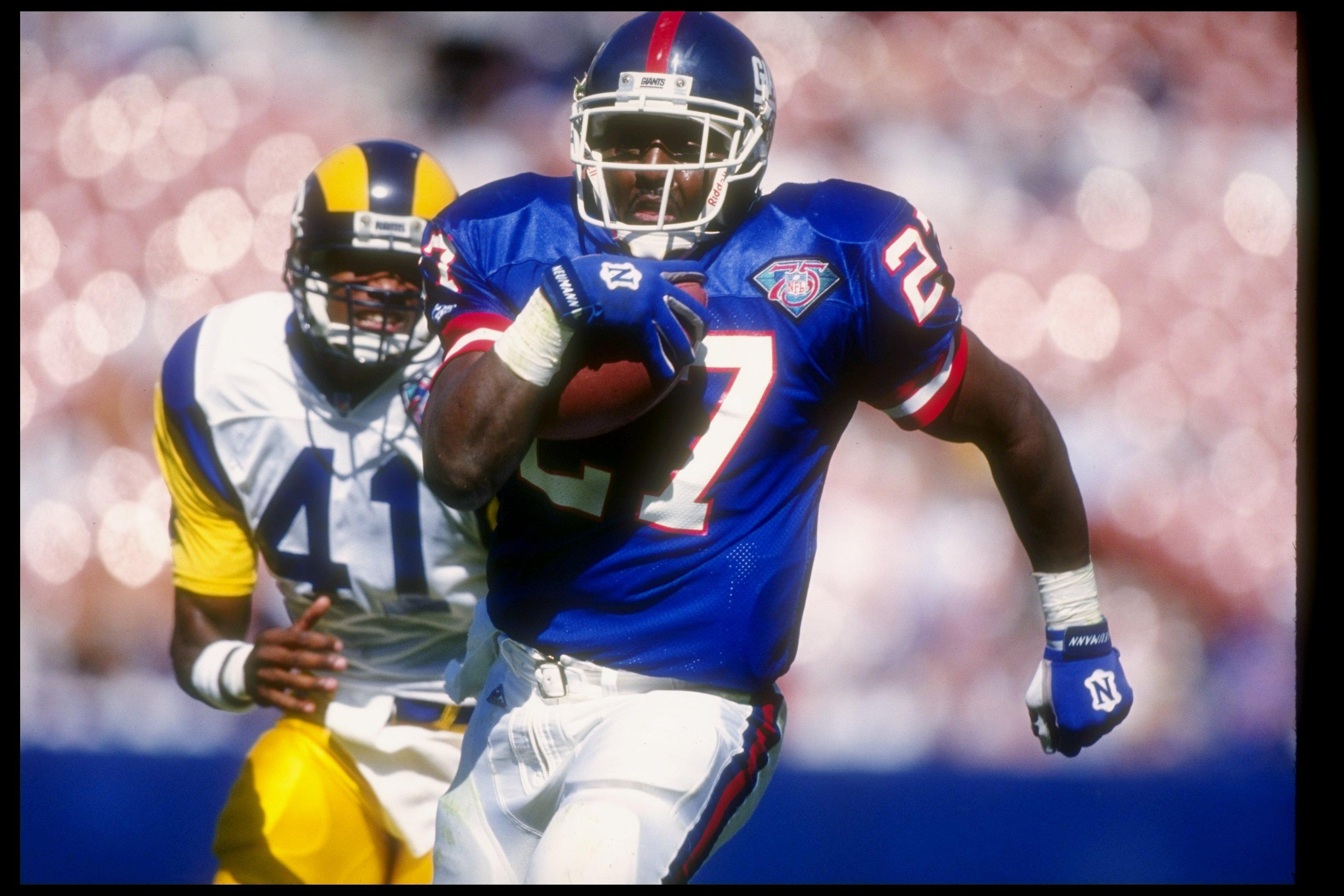 16 Oct 1994  Running back Rodney Hampton of the New York Giants (right) b1e05fce9
