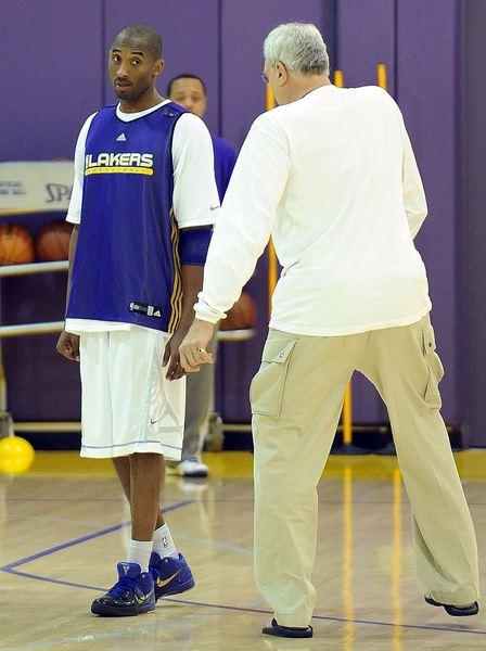 Kobe Bryant in practice