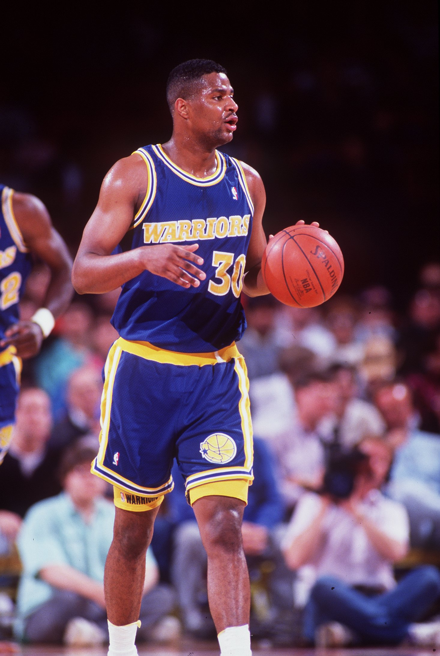1991-1992:  BILLY OWENS OF THE GOLDEN STATE WARRIORS WHILE PLAYING THE DENVER NUGGETS. Mandatory Credit: Tim Defrisco/ALLSPORT