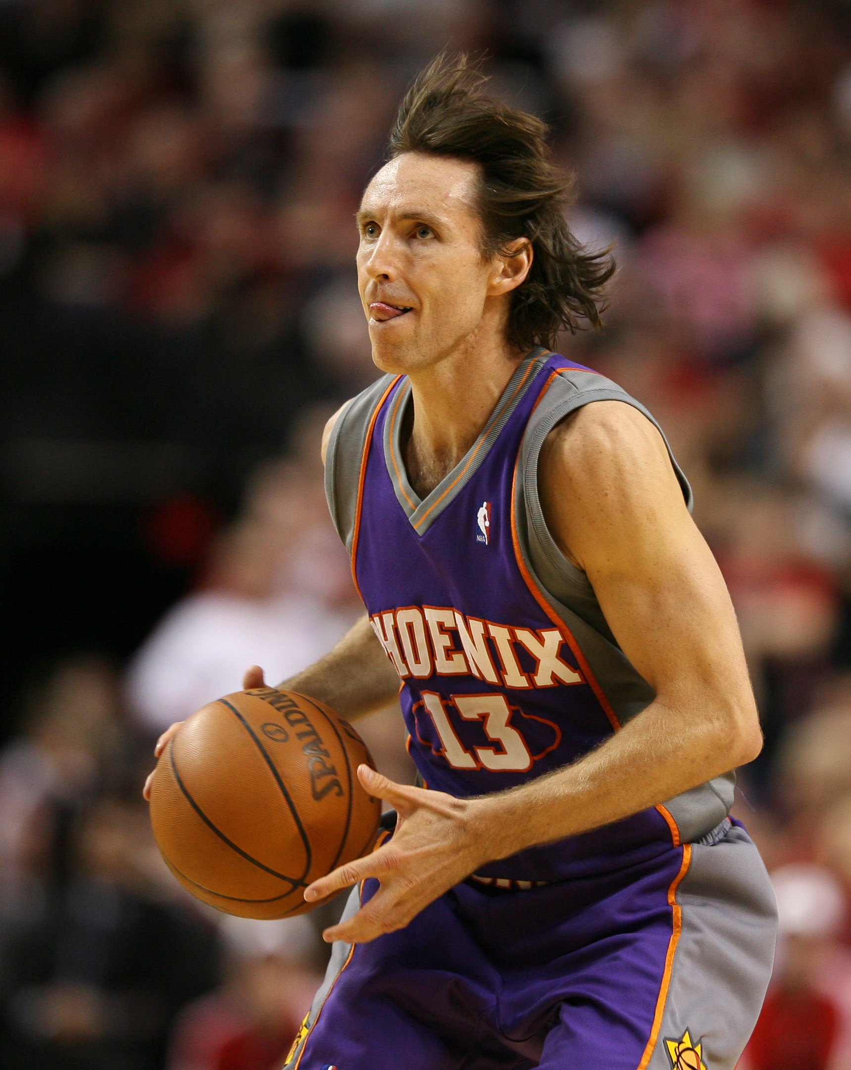 PORTLAND, OR - APRIL 29:  Steve Nash #13 of the Phoenix Suns in action against the Portland Trail Blazers during Game Six of the Western Conference Quarterfinals of the NBA Playoffs on April 29, 2010 at the Rose Garden in Portland, Oregon. The Suns defeat