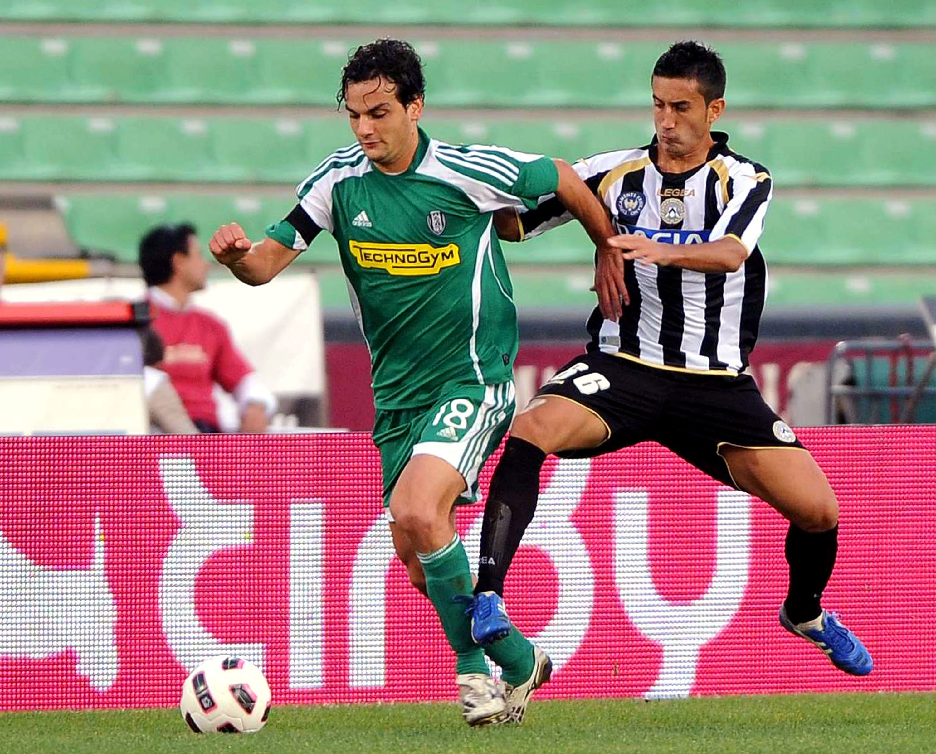 Midfielder Giampiero Pinzi has bounced around and is on his second tour of duty with Udinese.