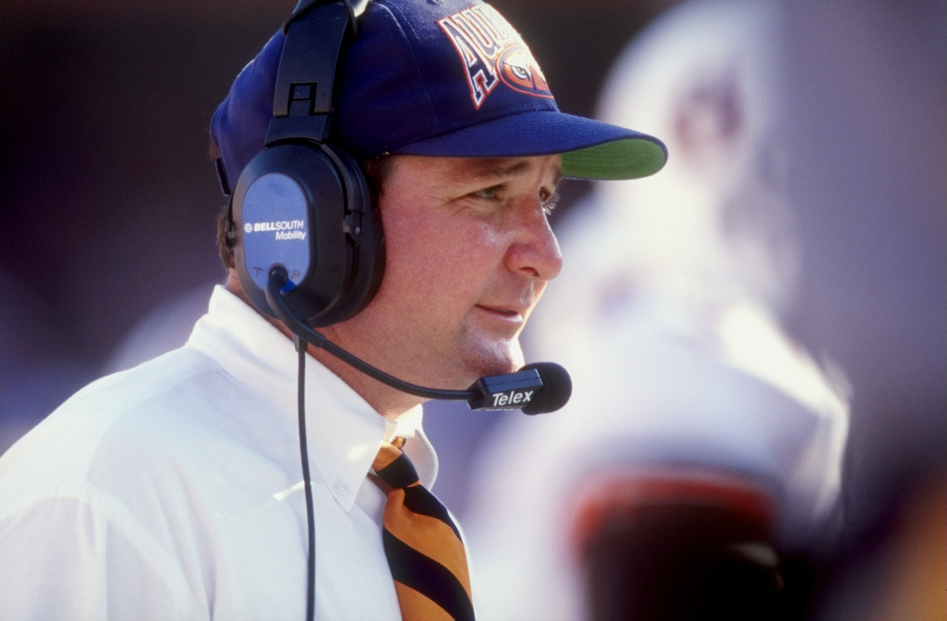 17 Oct 1998:  Head coach Terry Bowden of the Auburn Tigers looks on during a game against the Florida Gators at the Florida Field in Gainesville, Florida. The Gators defeated the Tigers 24-3.
