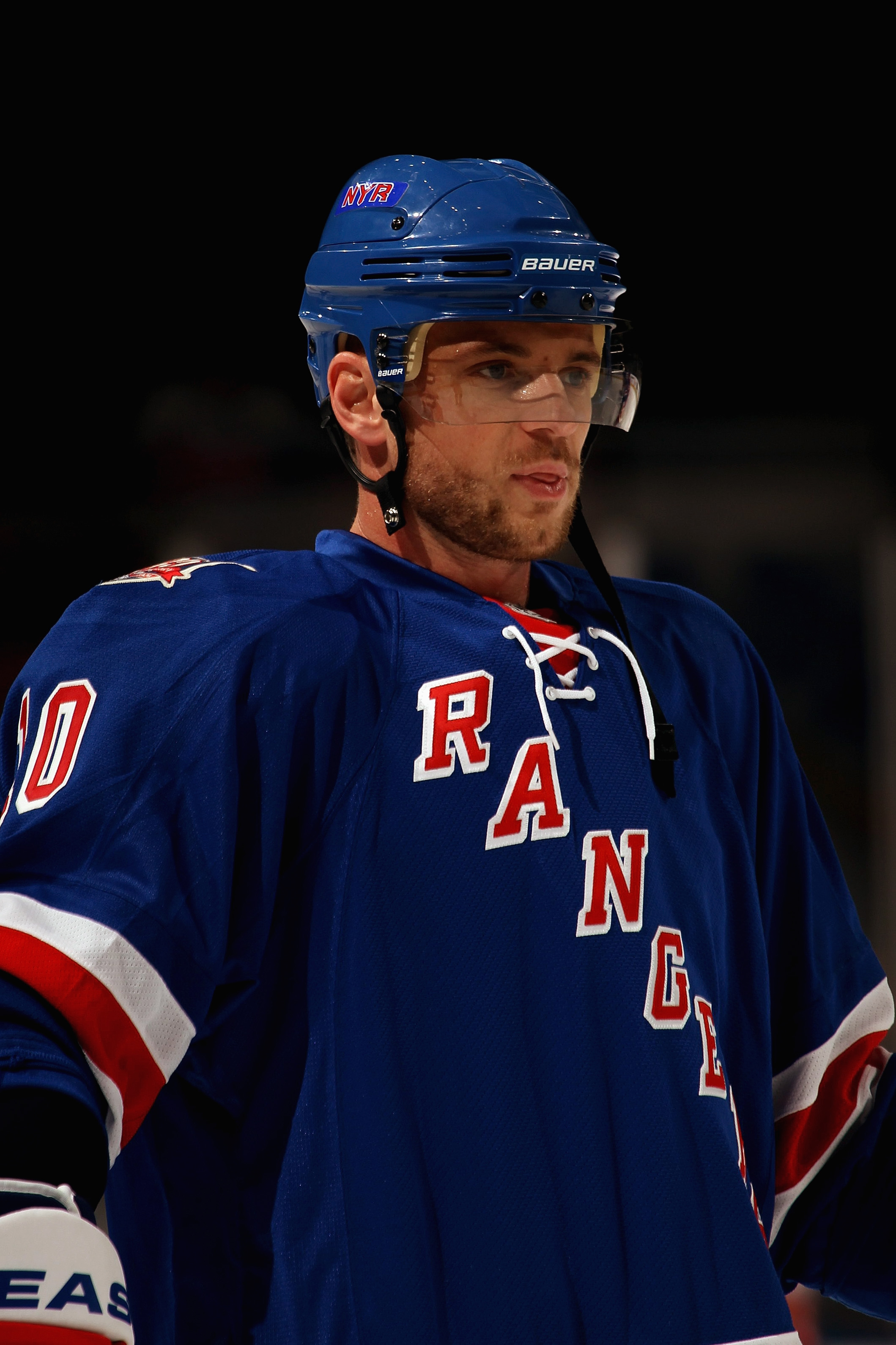 UNIONDALE, NY - OCTOBER 11:  Marian Gaborik #10 of the New York Rangers skates against the New York Islanders at the Nassau Coliseum on October 11, 2010 in Uniondale, New York.  The Islanders won 6-4.  (Photo by Bruce Bennett/Getty Images)