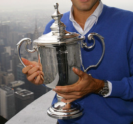 This trophy belongs to he who is humble, gracious, generous, and most of all, a true tennis champion.