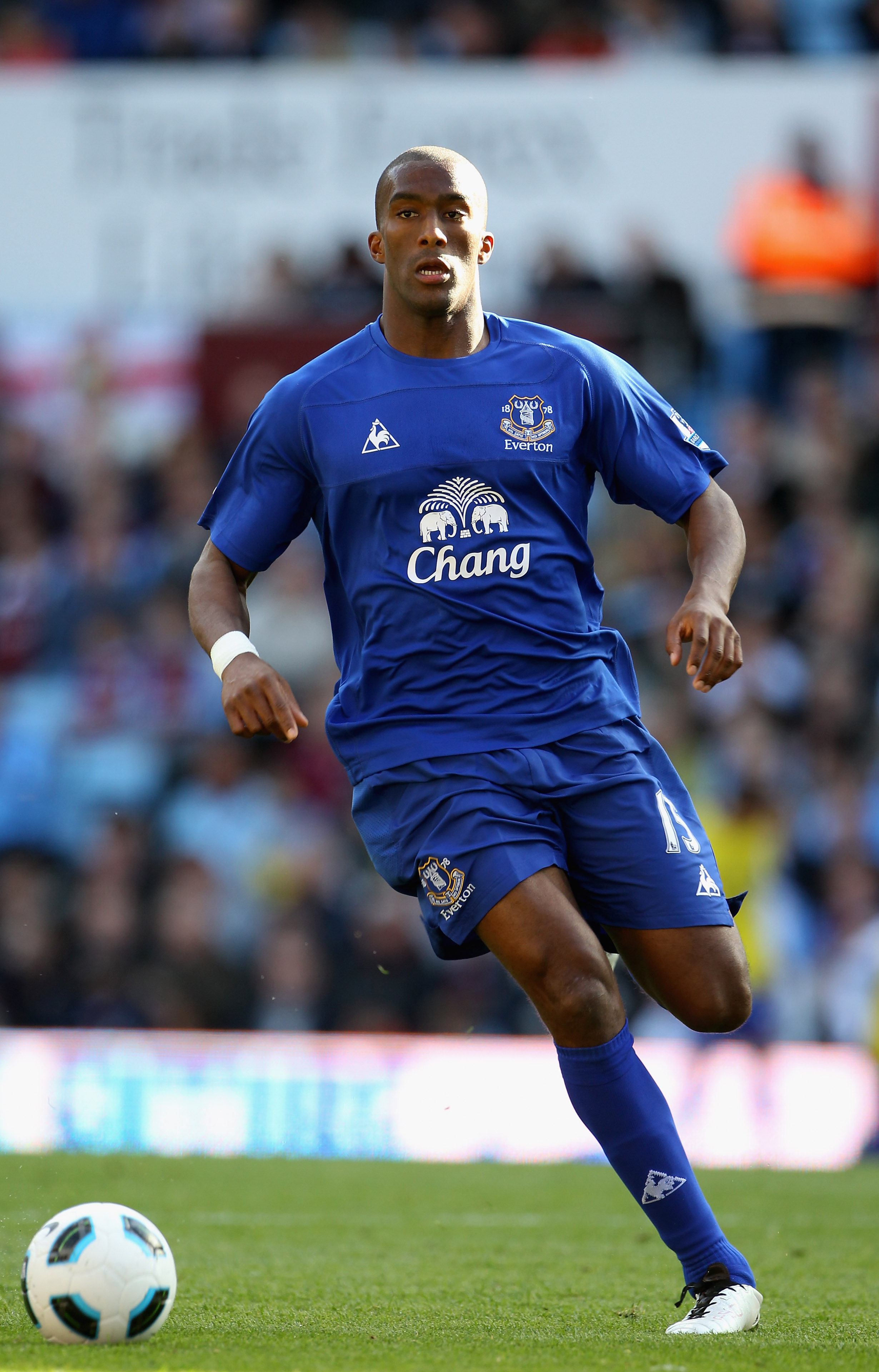 Where does Everton's defensive stalwart Sylvain Distin rank in the list?