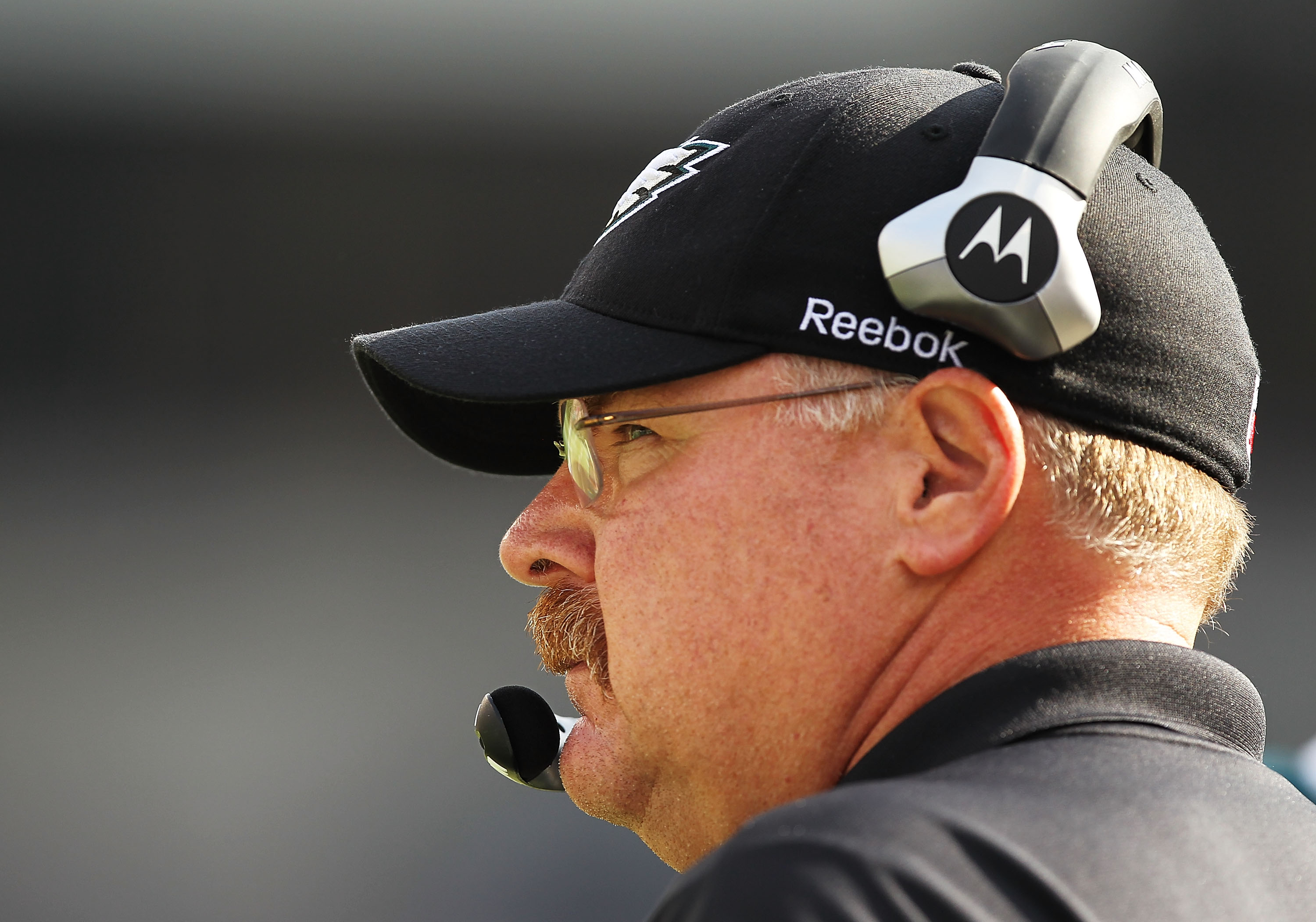 PHILADELPHIA - OCTOBER 17:  Andy Reid, Head Coach of the Philadelphia Eagles looks on against the Atlanta Falcons during their game at Lincoln Financial Field on October 17, 2010 in Philadelphia, Pennsylvania.  (Photo by Al Bello/Getty Images)