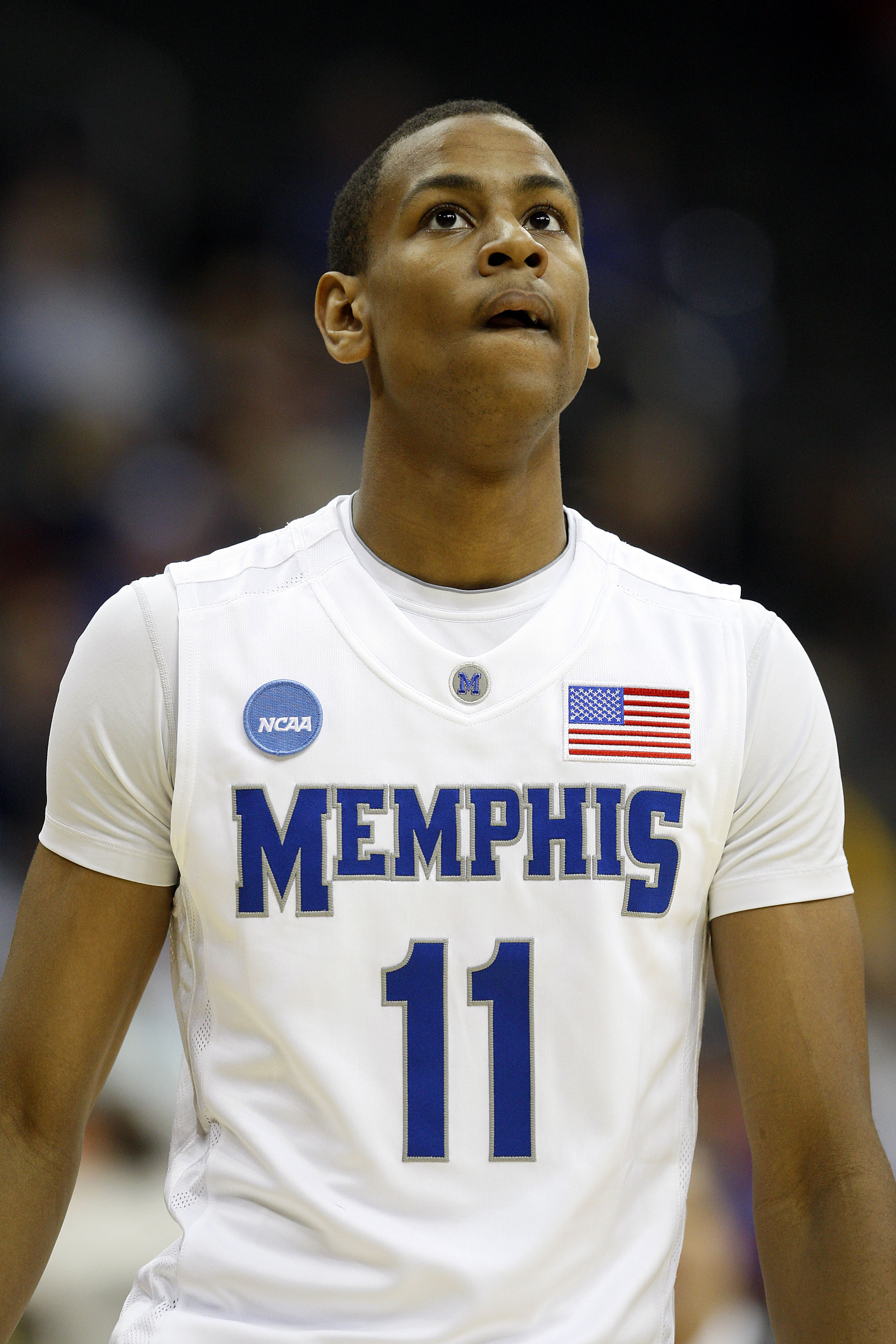 KANSAS CITY, MO - MARCH 19:  Wesley Witherspoon #11 of the Memphis Tigers looks on during their first round game against the CSUN Matadors in the NCAA Division I Men's Basketball Tournament at the Sprint Center on March 19, 2009 in Kansas City, Missouri.