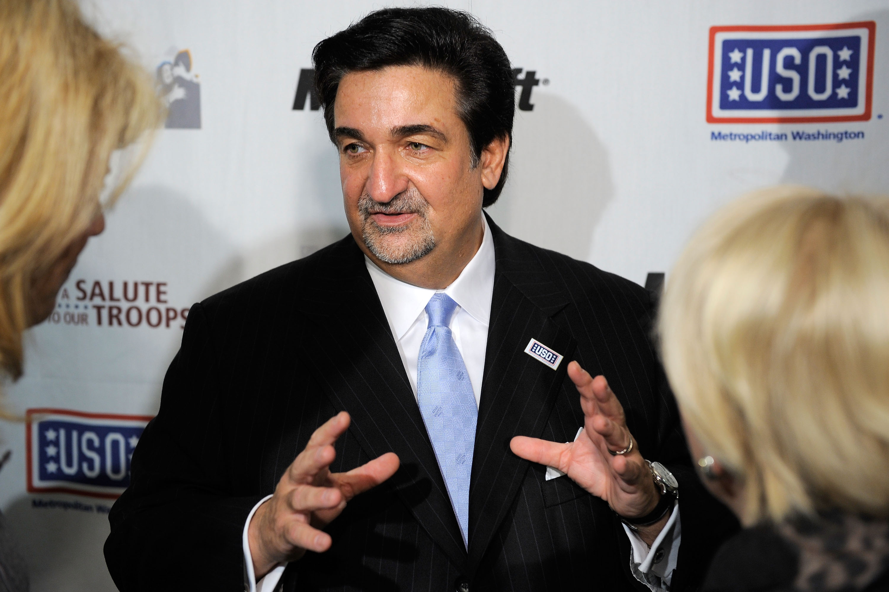 ARLINGTON, VA - NOVEMBER 09:  Ted Leonsis, owner of the Washington Capitols speaks during Microsoft's 'A Salute to Our Troops' Operation USO Care Package Day at Kettler Iceplex on November 9, 2009 in Arlington, Virginia.  (Photo by Jemal Countess/Getty Im
