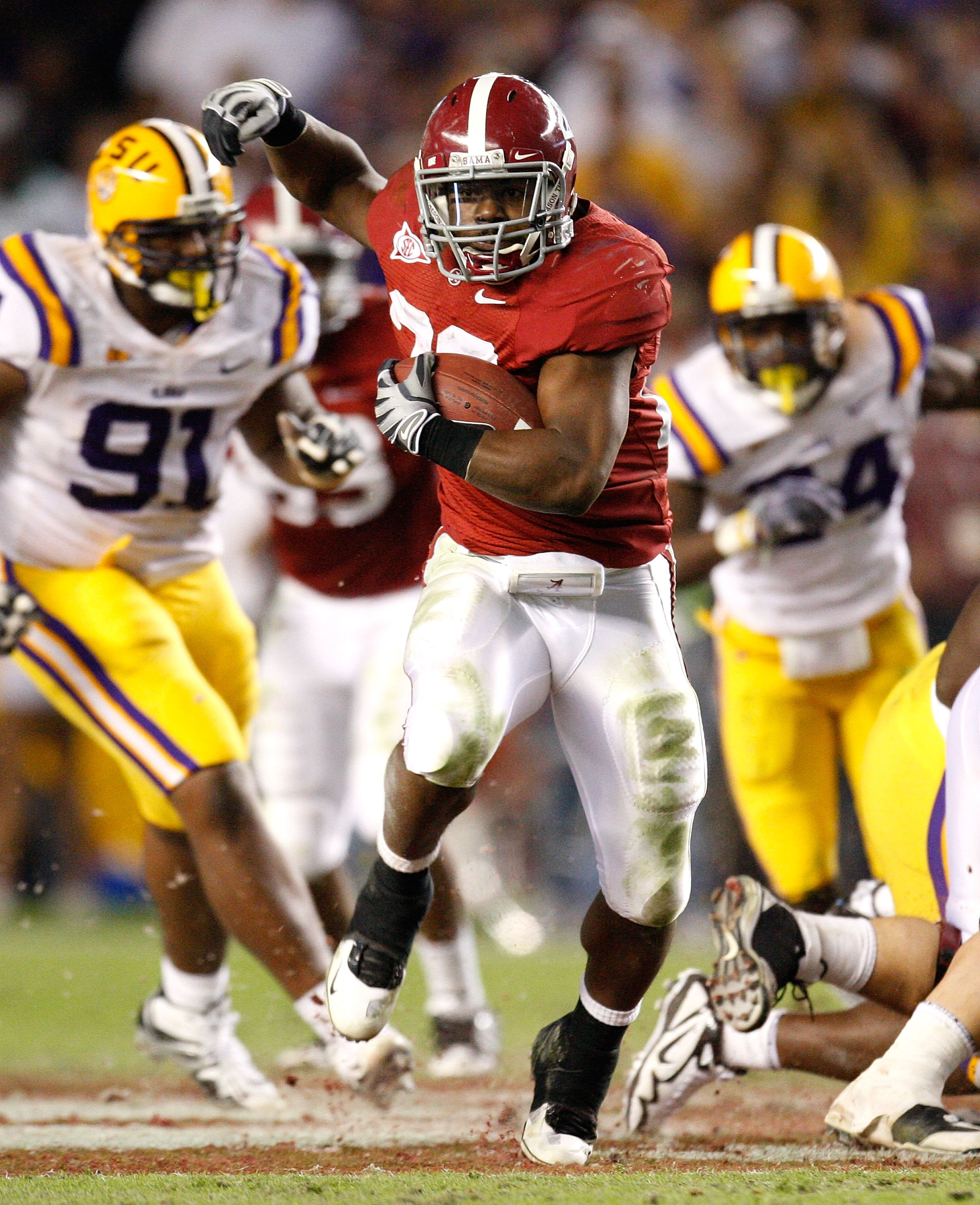 TUSCALOOSA, AL - NOVEMBER 07:  Mark Ingram #22 of the Alabama Crimson Tide against the Louisiana State University Tigers at Bryant-Denny Stadium on November 7, 2009 in Tuscaloosa, Alabama.  (Photo by Kevin C. Cox/Getty Images)