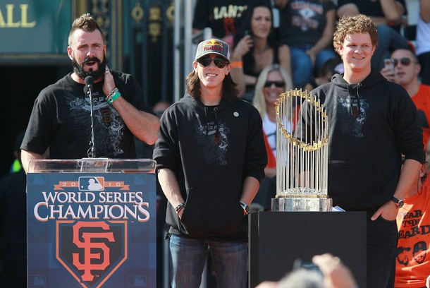 Wilson, Lincecum, and Cain were all at the top of their game in the World Series.
