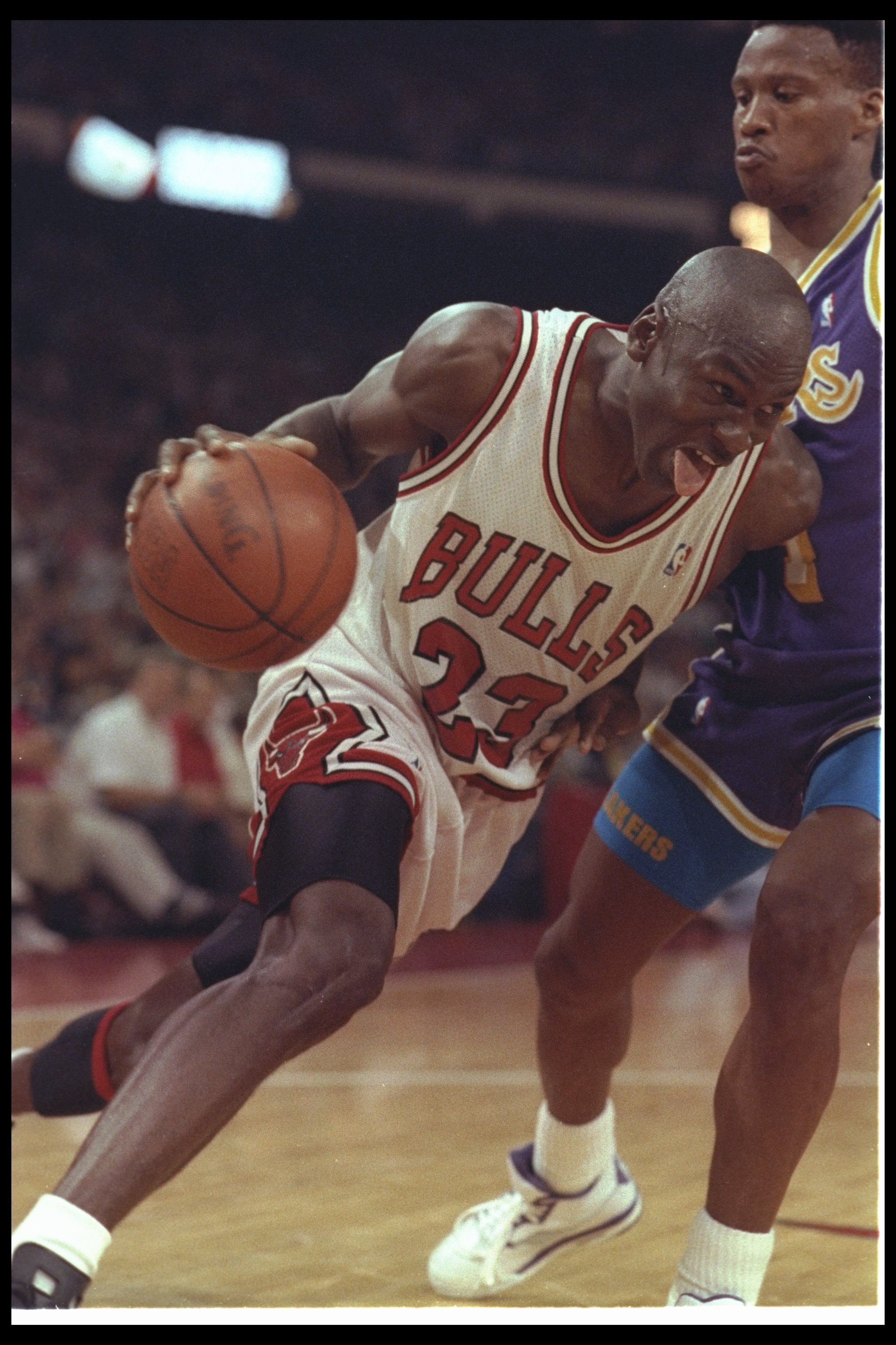 meet 3bad1 74fbb 2 May 1991  Guard Michael Jordan of the Chicago Bulls works against the Los  Angeles