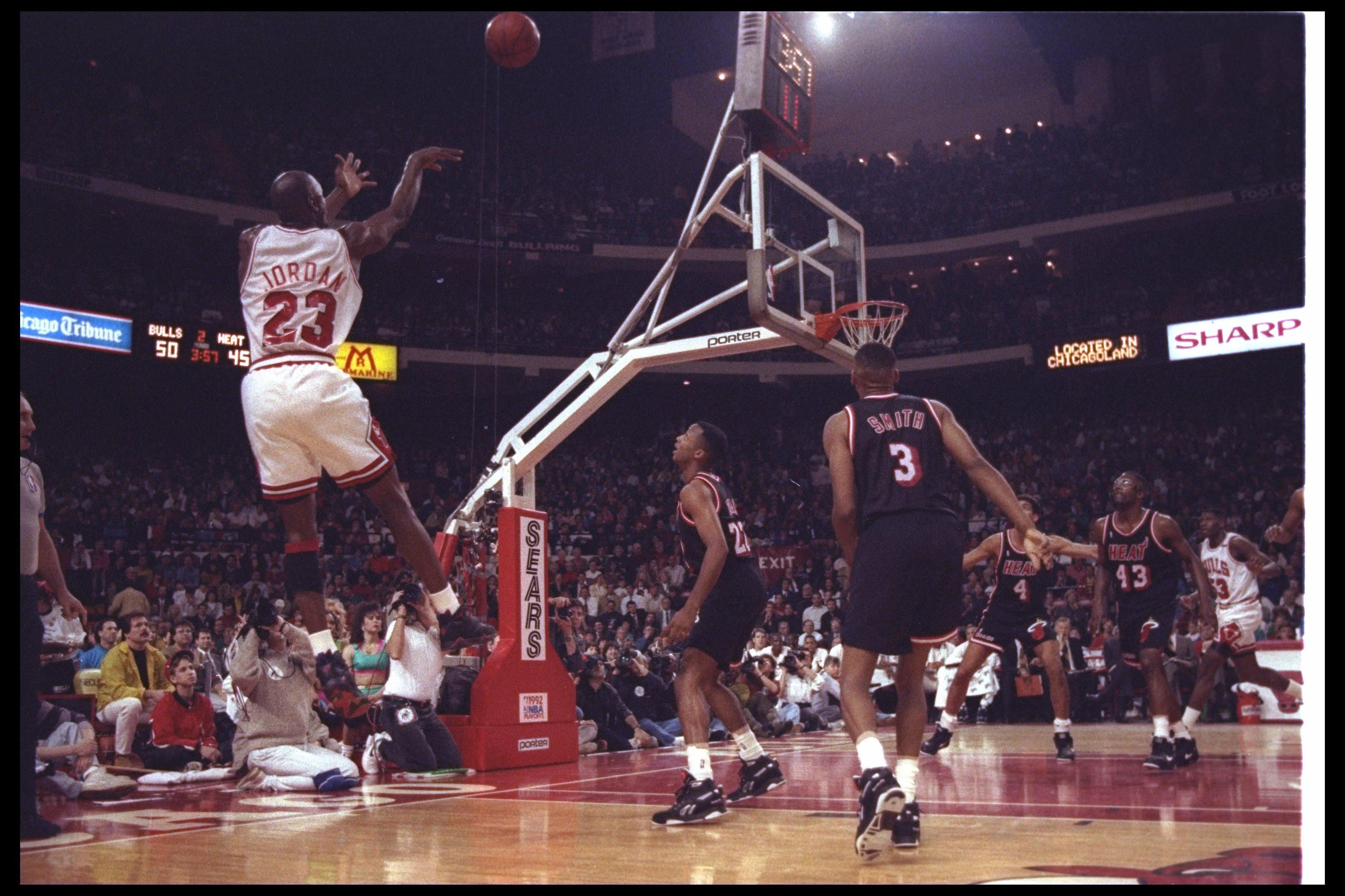 quality design df868 d3fb5 24 Apr 1992  Guard Michael Jordan of the Chicago Bulls takes a shot during a