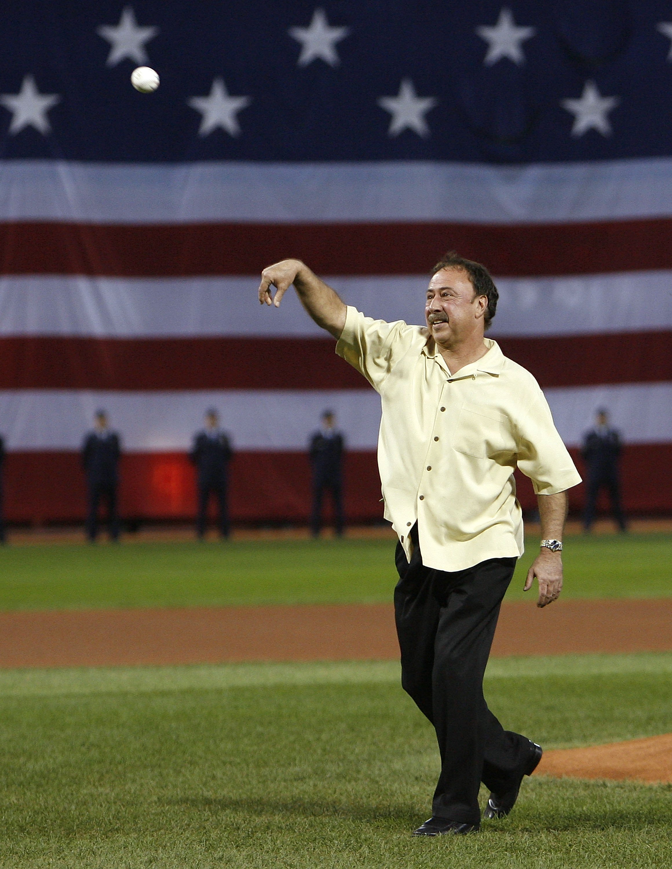 BOSTON - OCTOBER 03:  Former Red Sox second baseman Jerry Remy throws out the first pitch before the Boston Red Sox and Los Angeles Angels meet for Game one of the American League Division Series on October 3, 2007 at Fenway Park in Boston, Massachusetts.