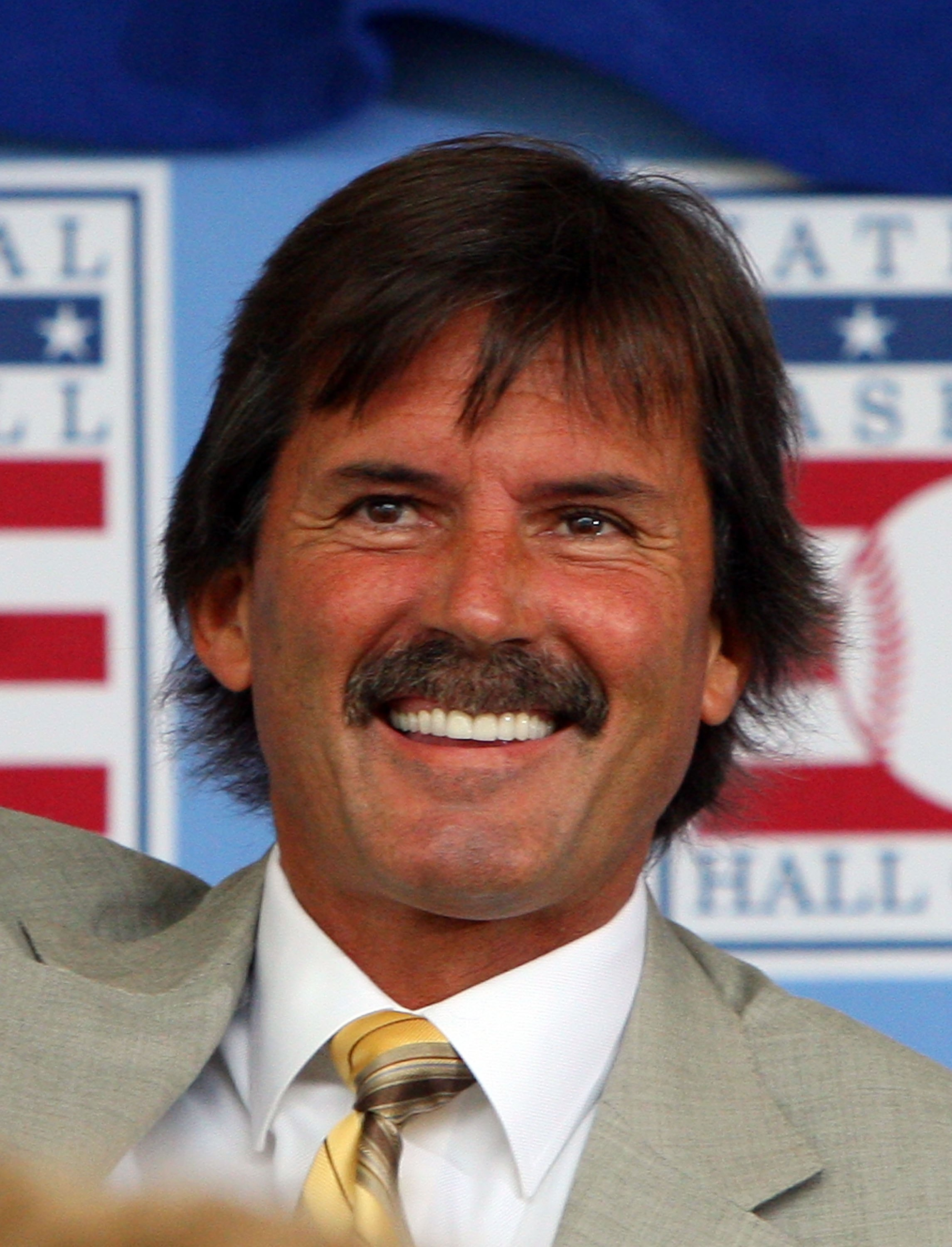 COOPERSTOWN, NY - JULY 26:  Hall of Famer Dennis Eckersley looks on at Clark Sports Center during the 2009  Baseball Hall of Fame induction ceremony on July 26, 2009 in Cooperstown, New York.  (Photo by Jim McIsaac/Getty Images)