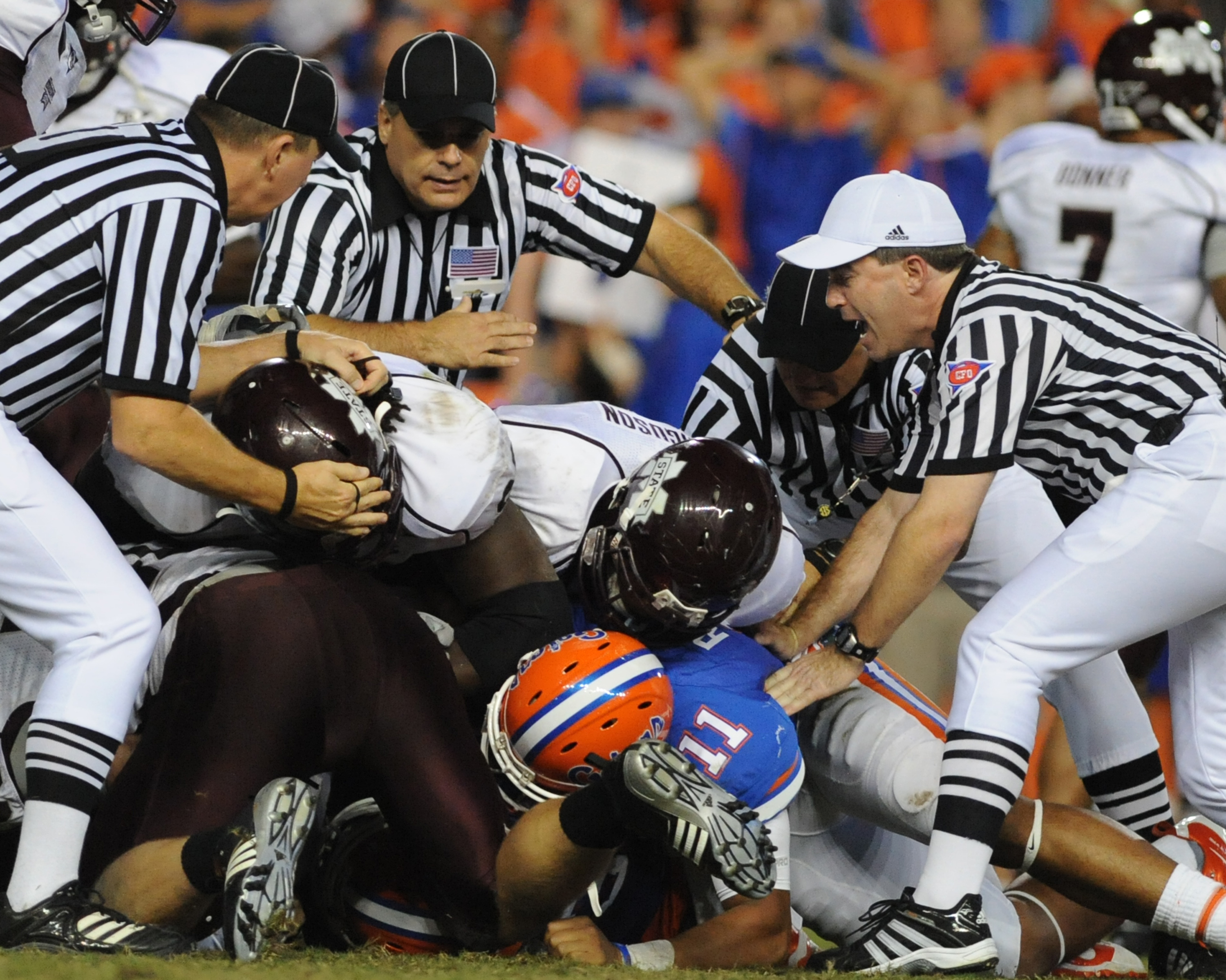 The result of this play was that Florida was flagged for Illegal Forward Scrum.