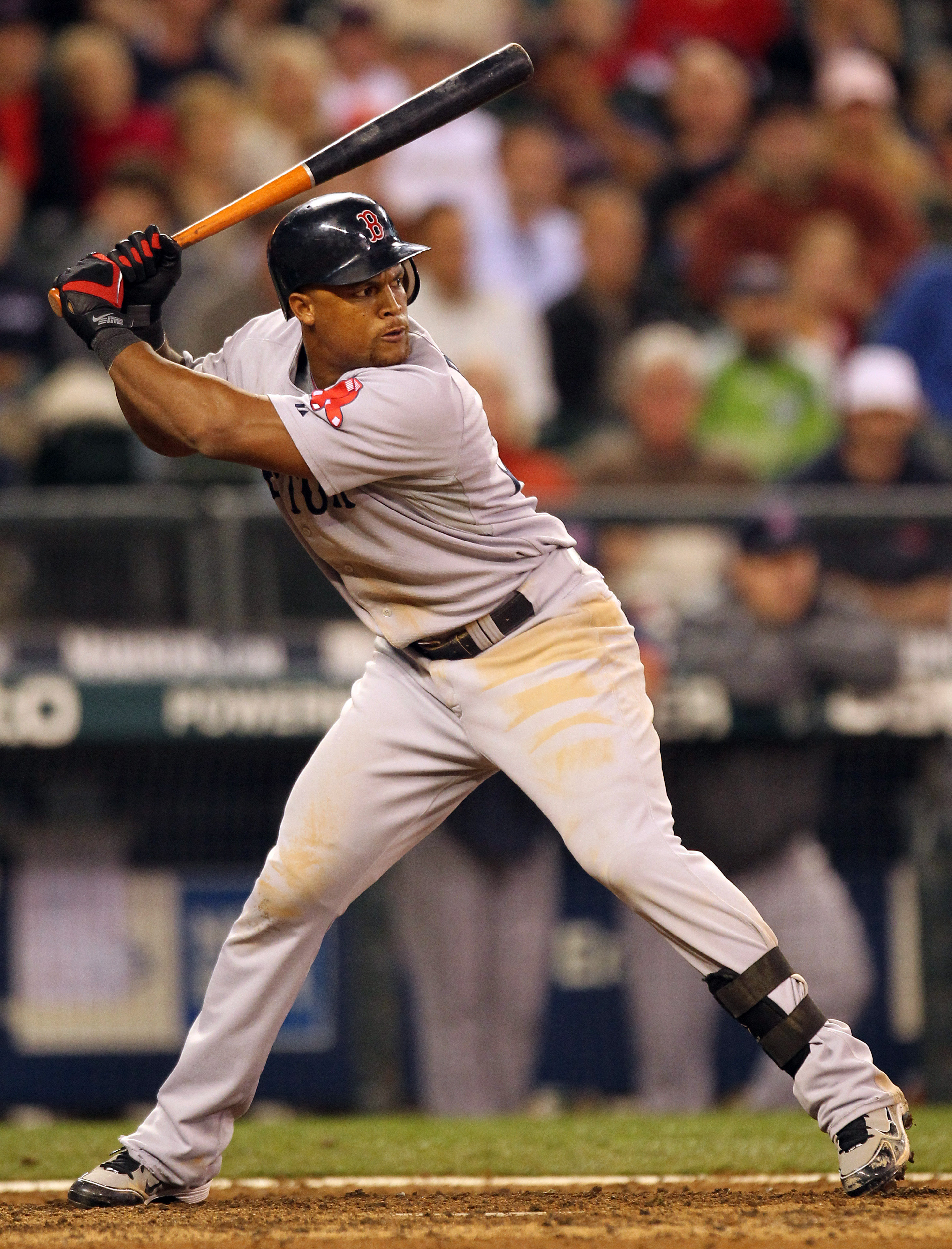 SEATTLE - SEPTEMBER 15:  Adrian Beltre #29 of the Boston Red Sox bats against the Seattle Mariners at Safeco Field on September 15, 2010 in Seattle, Washington. (Photo by Otto Greule Jr/Getty Images)