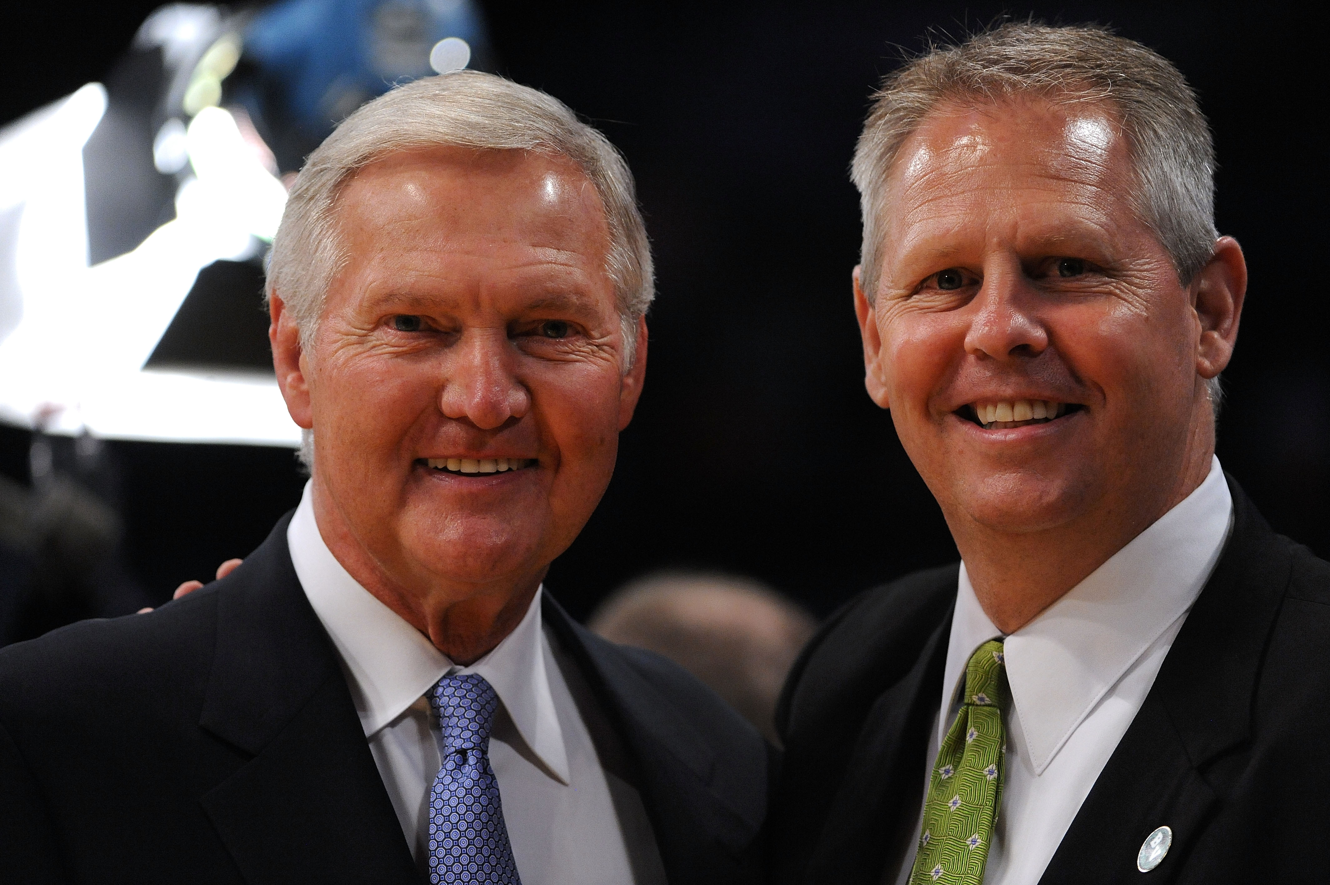 Jerry West (left) and Danny Ainge