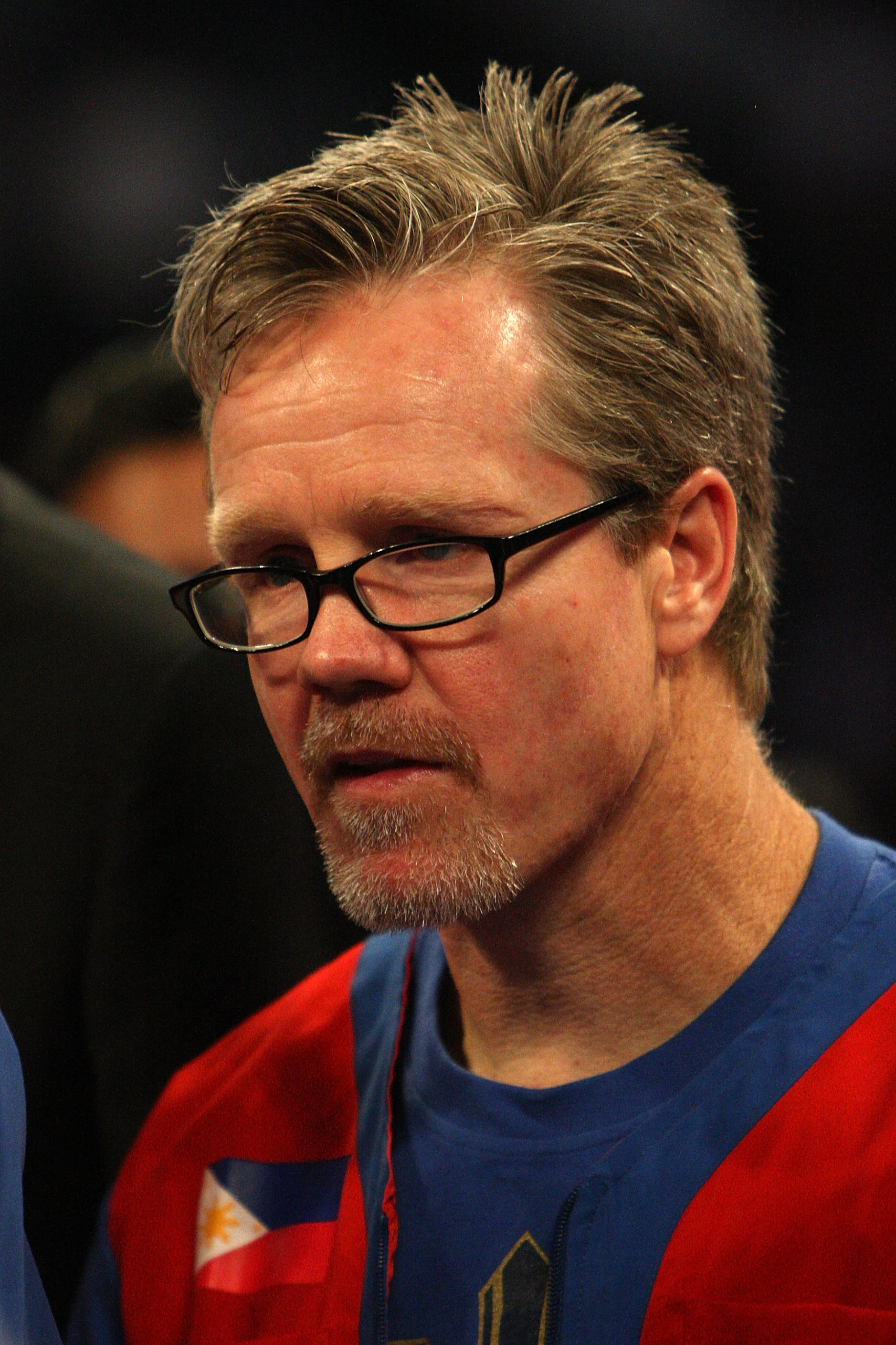 ARLINGTON, TX - MARCH 13:  Trainer Freddie Roach, who trains Manny Pacquiao of the Philippines, looks on in the ring after Pacquiao defeated Joshua Clottey of Ghana during the WBO welterweight title fight at Cowboys Stadium on March 13, 2010 in Arlington,