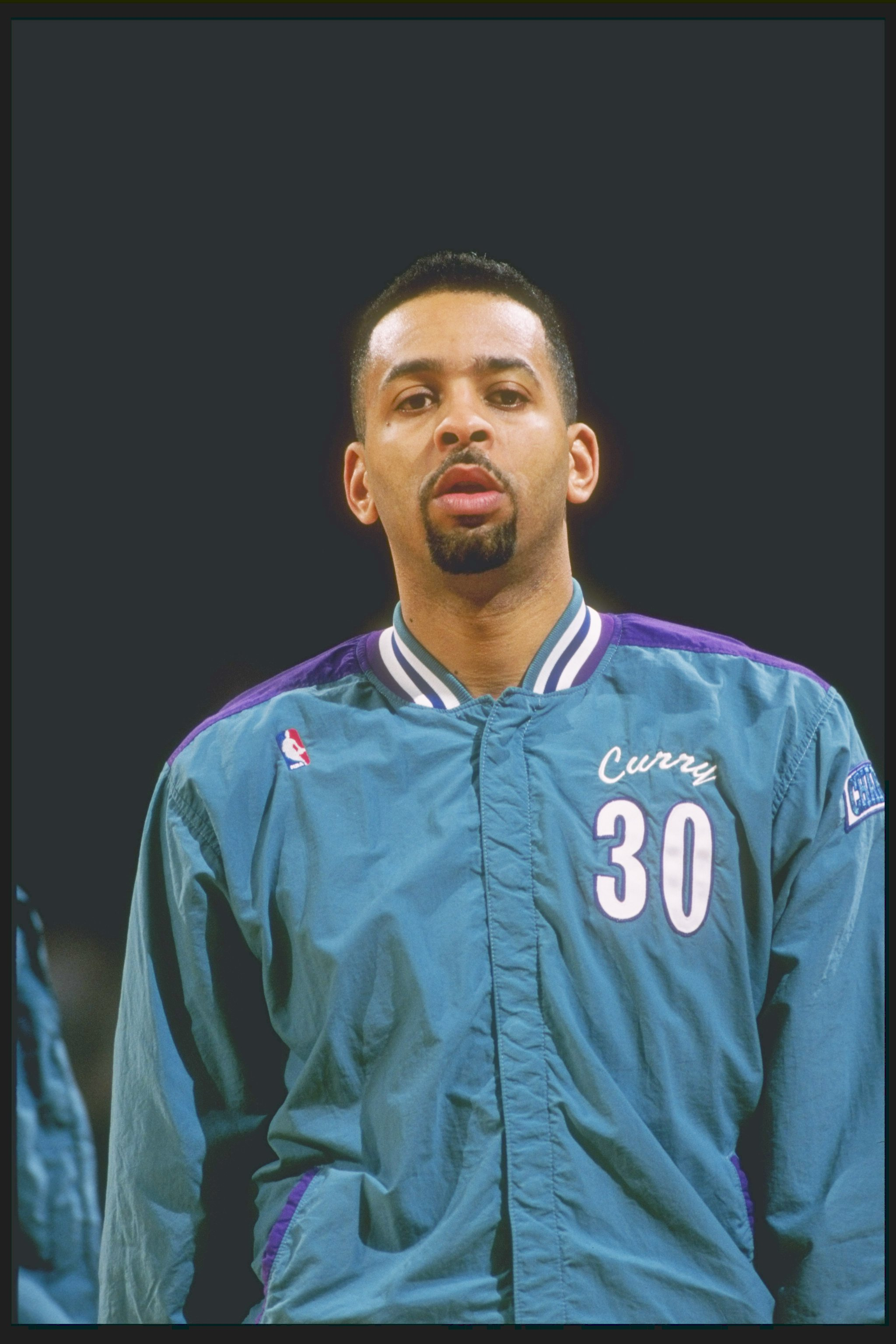 2 Mar 1995: Guard Dell Curry of the Charlotte Hornets stands on the court before a game against the Portland Trailblazers at the Rose Garden in Portland, Oregon. The Hornets won the game 109-99.