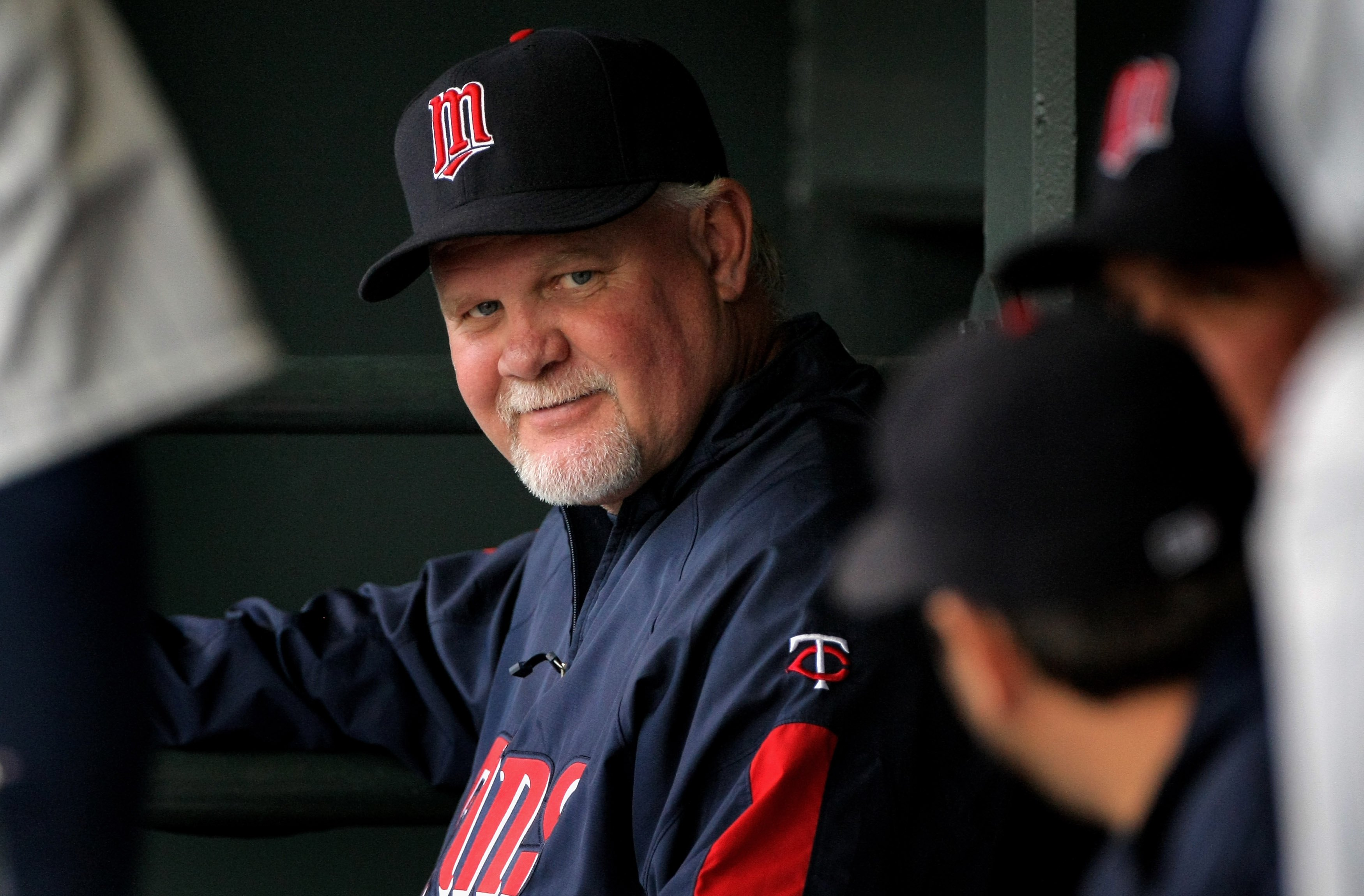 DENVER - MAY 16:  Manager Ron Gardenhire #35 of the Minnesota Twins directs his team against the Colorado Rockies during Interleague MLB action at Coors Field on May 16, 2008 in Denver, Colorado. The Twins defeated the Rockies 4-2.  (Photo by Doug Pensing