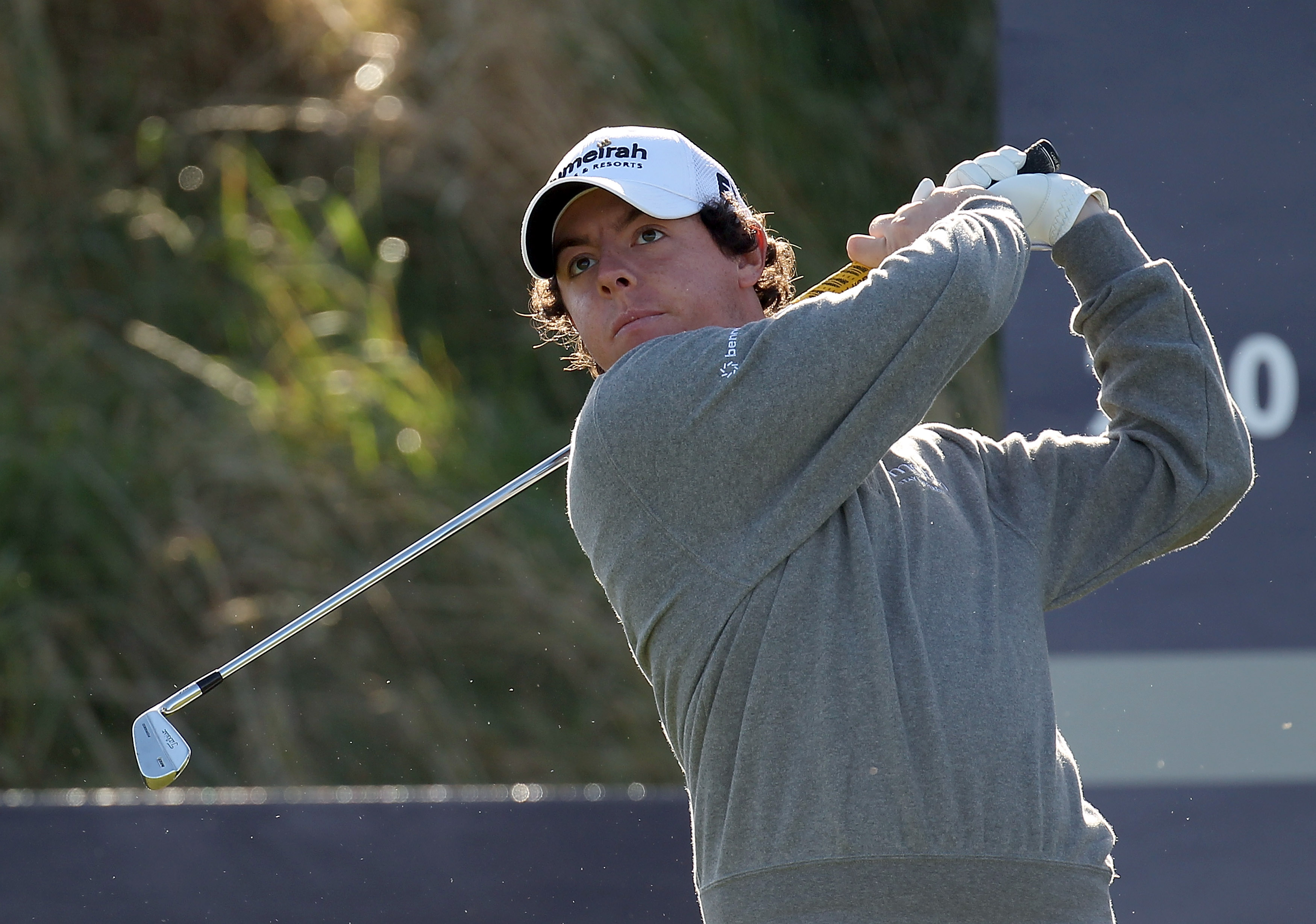 KINGSBARNS, SCOTLAND - OCTOBER 07:  Rory McIlroy of Northern Ireland plays off the second tee during the first round of The Alfred Dunhill Links Championship at Kingsbarns Golf Links on October 7, 2010 in Kingsbarns, Scotland.  (Photo by Ross Kinnaird/Get