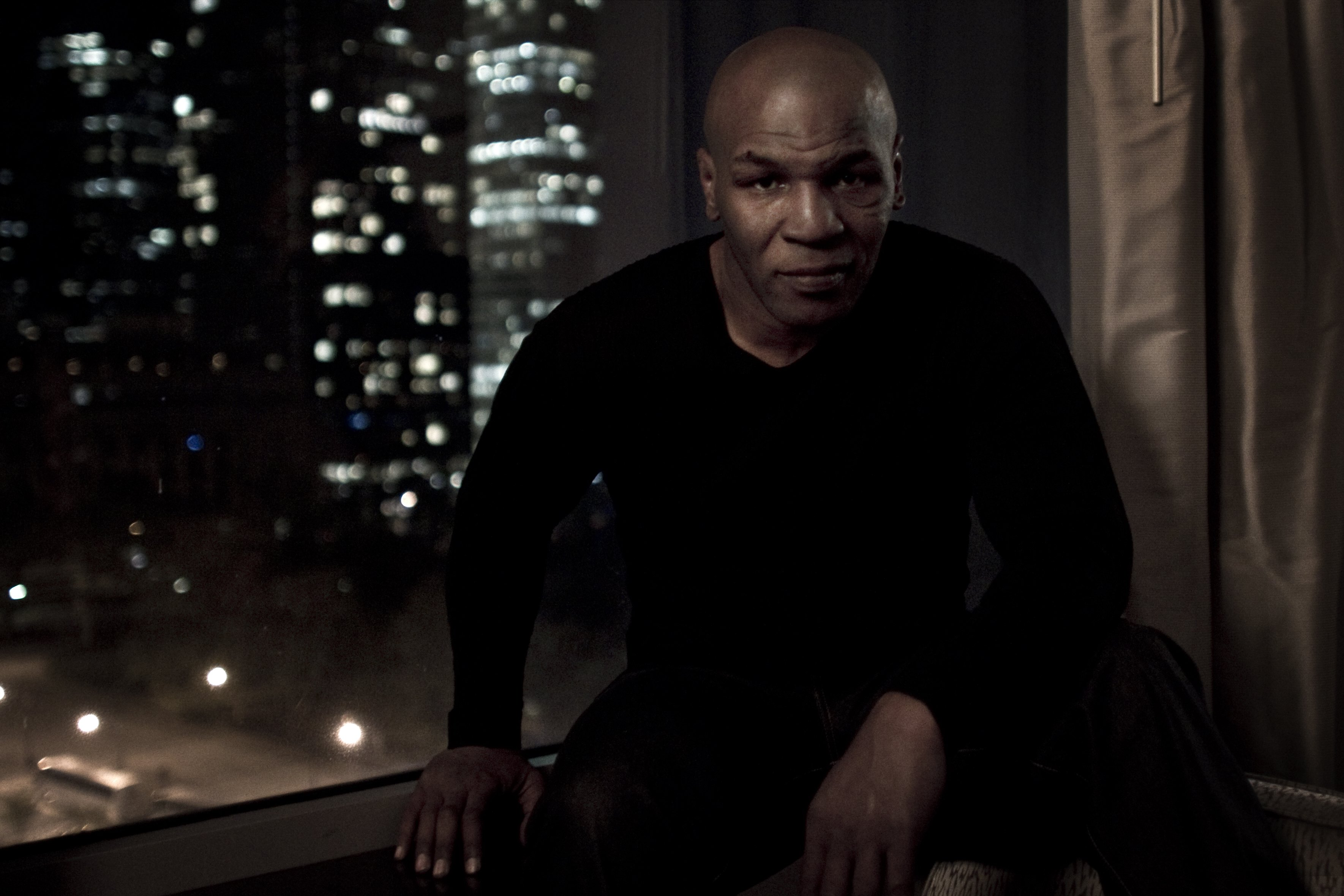 NEW YORK - APRIL 14:  Retired boxer Mike Tyson is photographed at his hotel on April 14, 2010 in New York, New York.  (Photo by Chris McGrath/Getty Images)