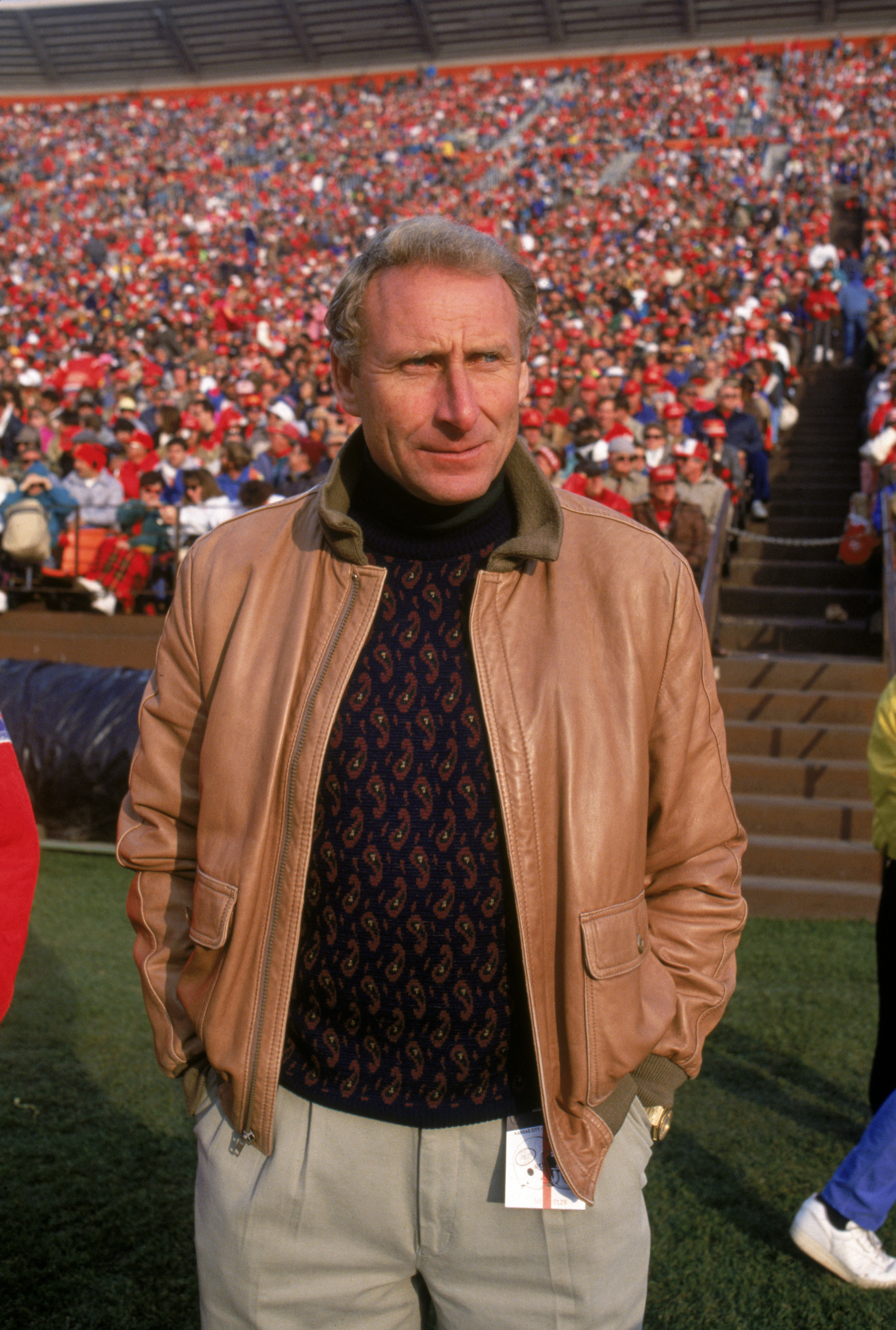 SAN FRANCISCO - DECEMBER 14:  Hall of Famer placekicker for the Kansas City Chiefs, Jan Stenerud, attends a game between the San Francisco 49ers and Kansas City Chiefs at Candlestick Park on December 14, 1991 in San Francisco, California.  The 49ers won 2
