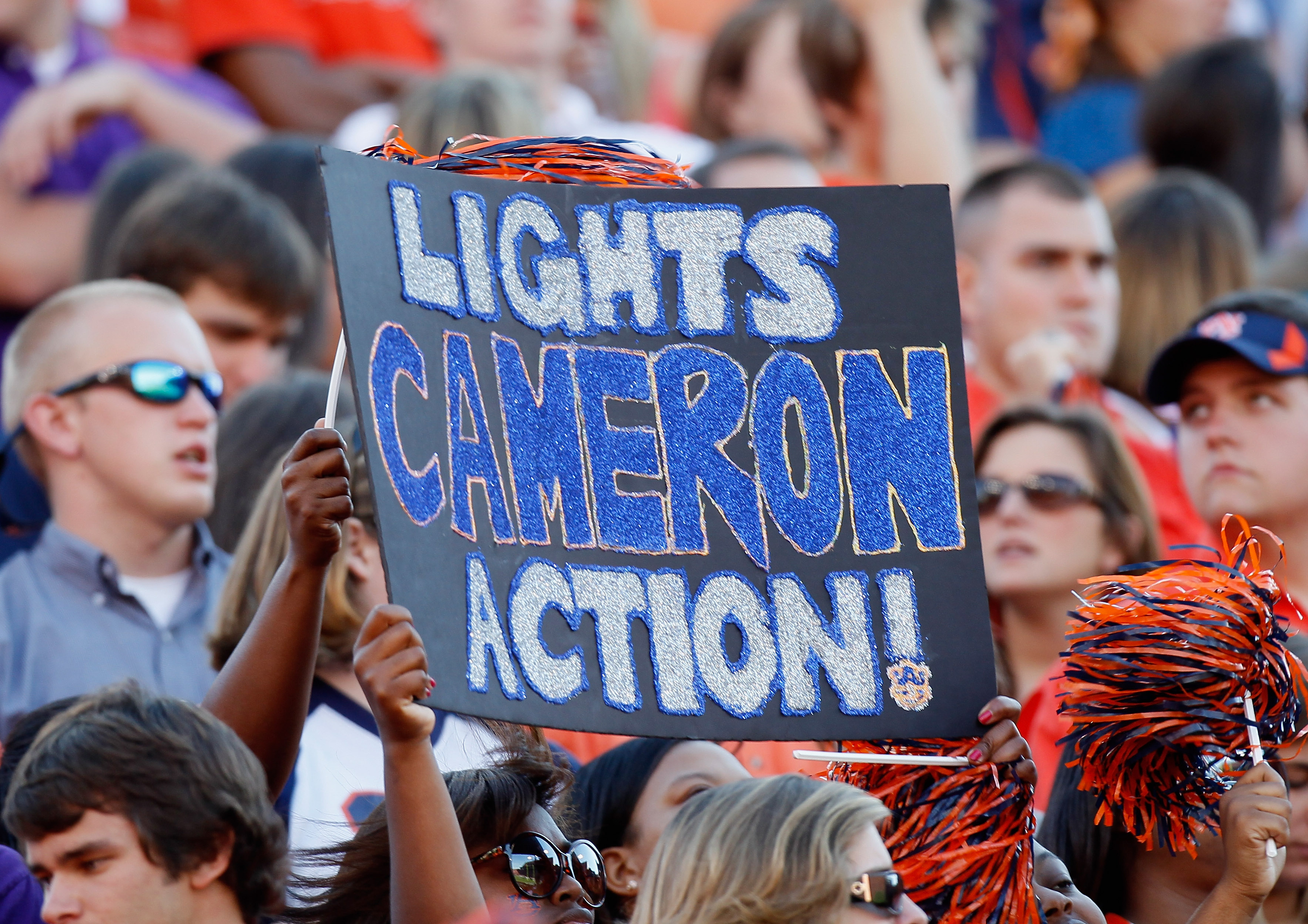 AUBURN, AL - OCTOBER 23:  Fans hold up a sign about quarterback Cameron Newton #2 of the Auburn Tigers against the LSU Tigers at Jordan-Hare Stadium on October 23, 2010 in Auburn, Alabama.  (Photo by Kevin C. Cox/Getty Images)