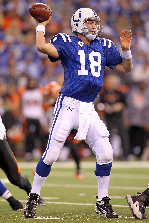 Colts quarterback Peyton Manning