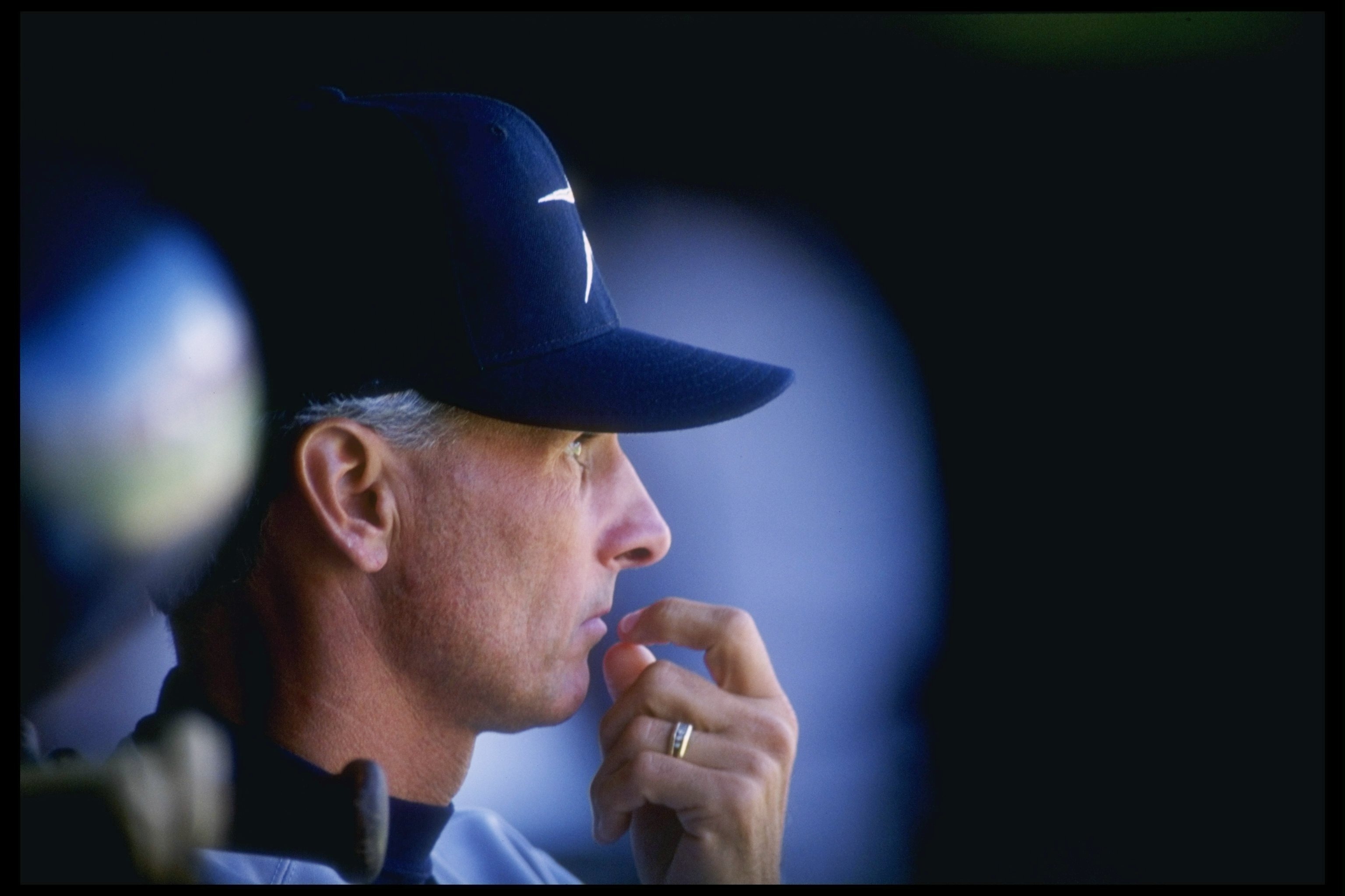 27 Apr 1995:  Manager Terry Collins of the Houston Astros watches his players from the dugout during a game against the San Diego Padres at Jack Murphy Stadium in San Diego, California.  The Padres won the game 13-1. Mandatory Credit: Stephen Dunn  /Allsp