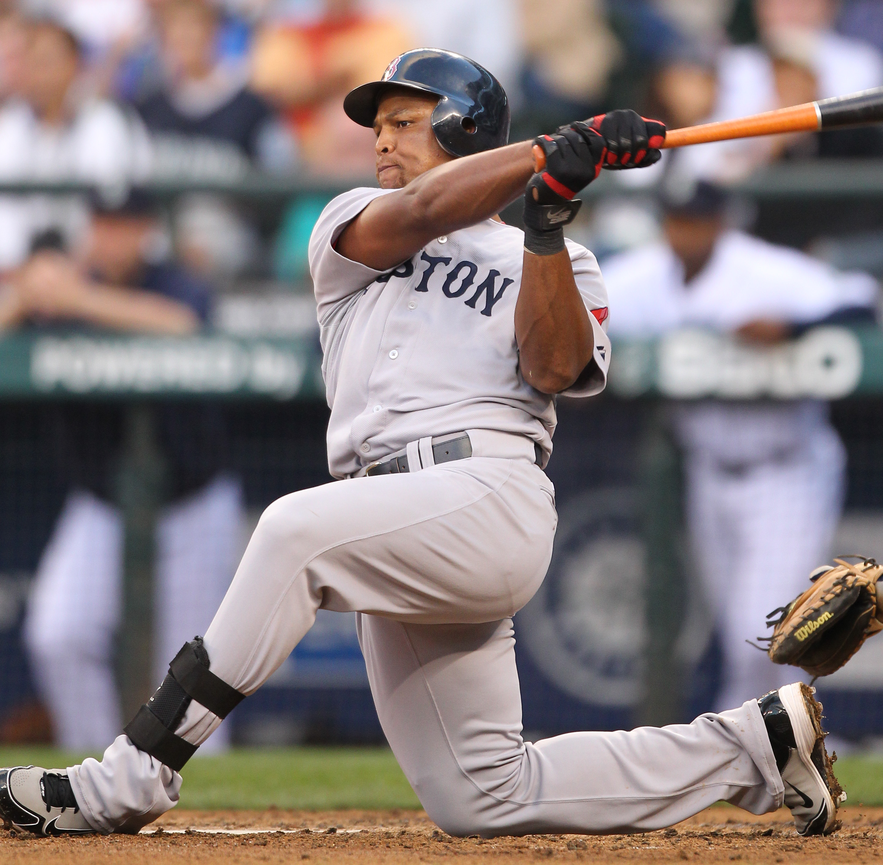 SEATTLE - JULY 22: Adrian Beltre #29 of the Boston Red Sox bats against the Seattle Mariners at Safeco Field on July 22, 2010 in Seattle, Washington. (Photo by Otto Greule Jr/Getty Images)
