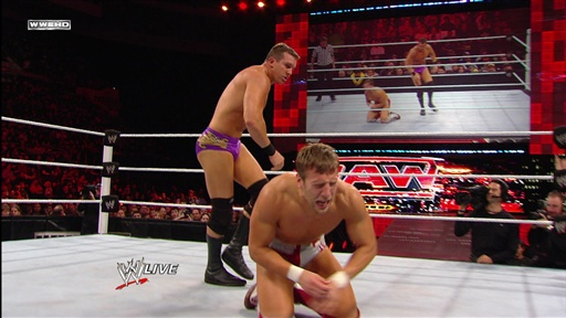 Ted Dibiase and Daniel Bryan on an episode of Raw from this past year.