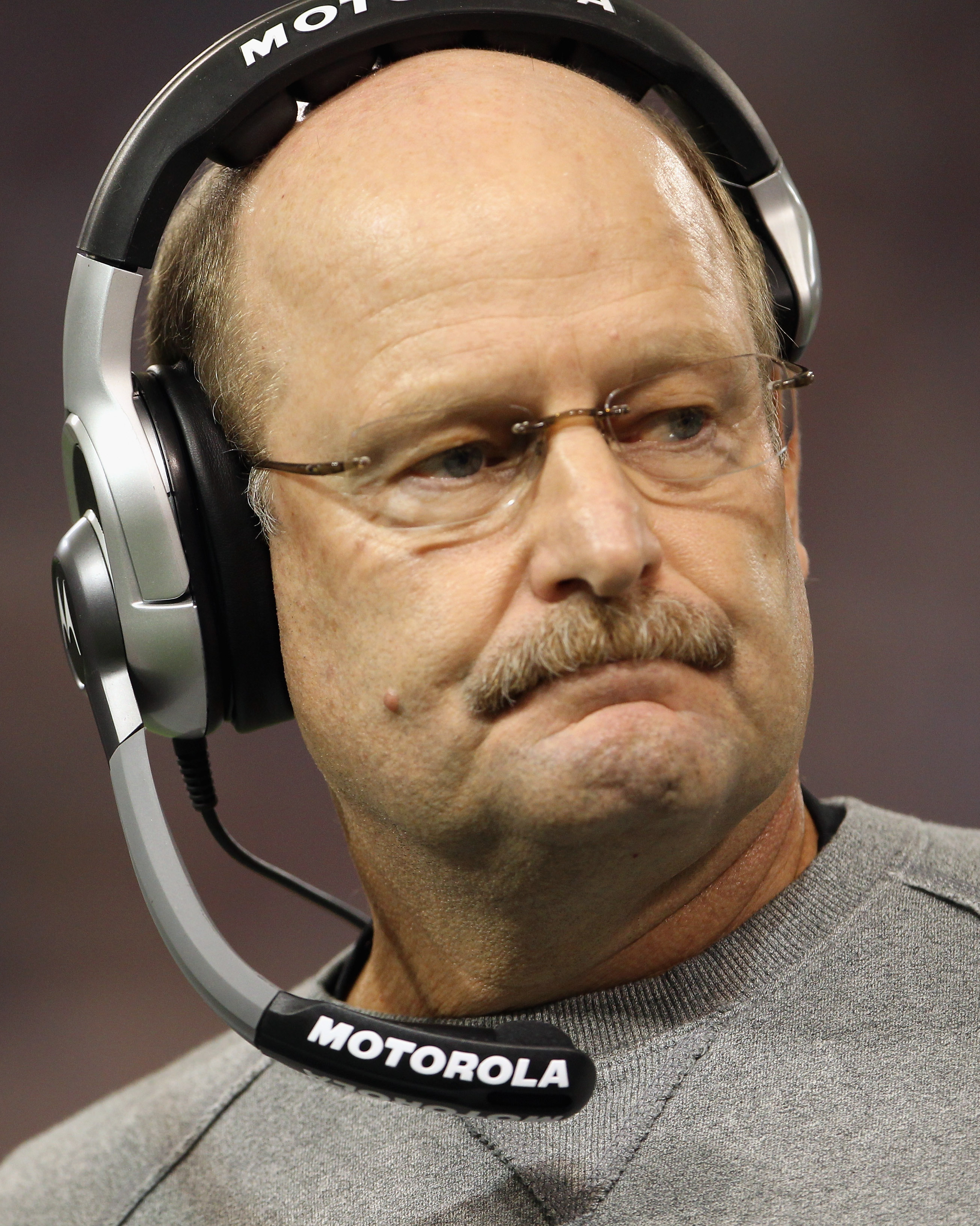 MINNEAPOLIS - SEPTEMBER 19:  Head coach Brad Childress of the Minnesota Vikings watches from the sidelines during the game against the Miami Dolphins on September 19, 2010 at Hubert H. Humphrey Metrodome in Minneapolis, Minnesota.  (Photo by Jamie Squire/