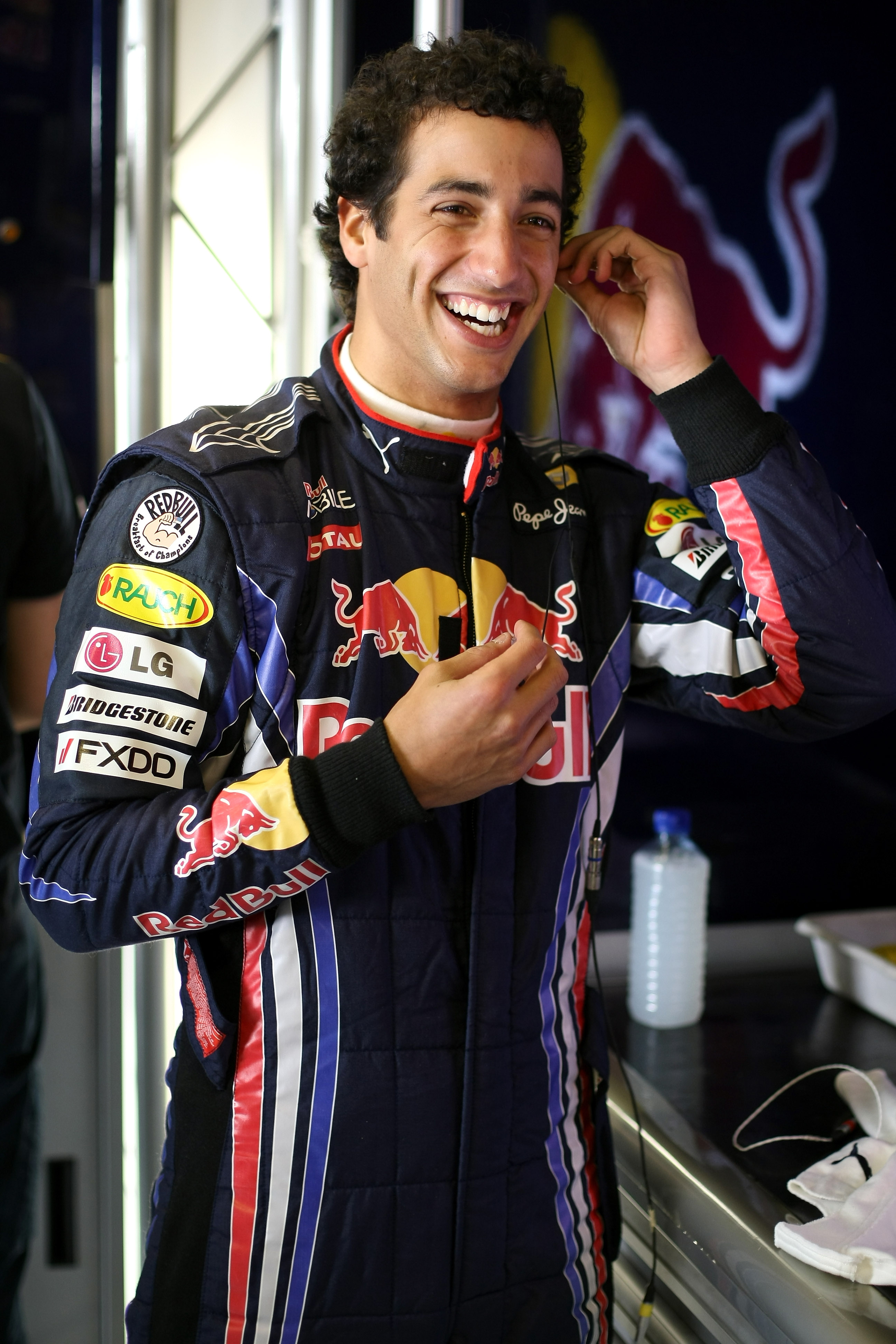 ABU DHABI, UNITED ARAB EMIRATES - NOVEMBER 17:  Daniel Ricciardo of Australia and Red Bull Racing prepares to go out on track during the Young Driver Testing at the Yas Marina Circuit on November 17, 2010 in Abu Dhabi, United Arab Emirates.  (Photo by And