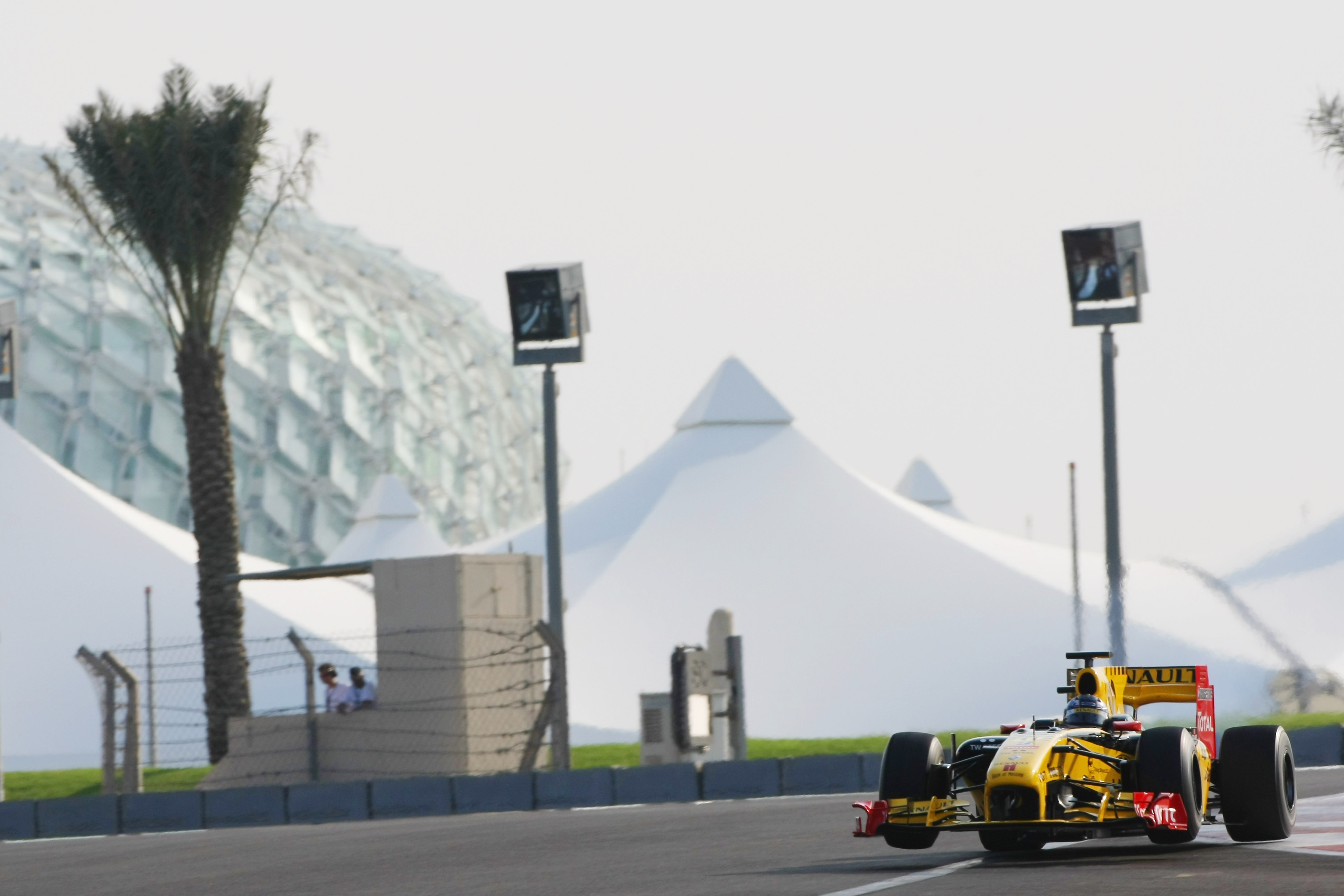 ABU DHABI, UNITED ARAB EMIRATES - NOVEMBER 16: Mikhail Aleshin of Russia and Renault F1 Team in action during the Young Driver Testing at the Yas Marina Circuit on November 16, 2010 in Abu Dhabi, United Arab Emirates. (Photo by Andrew Hone/Getty Images)